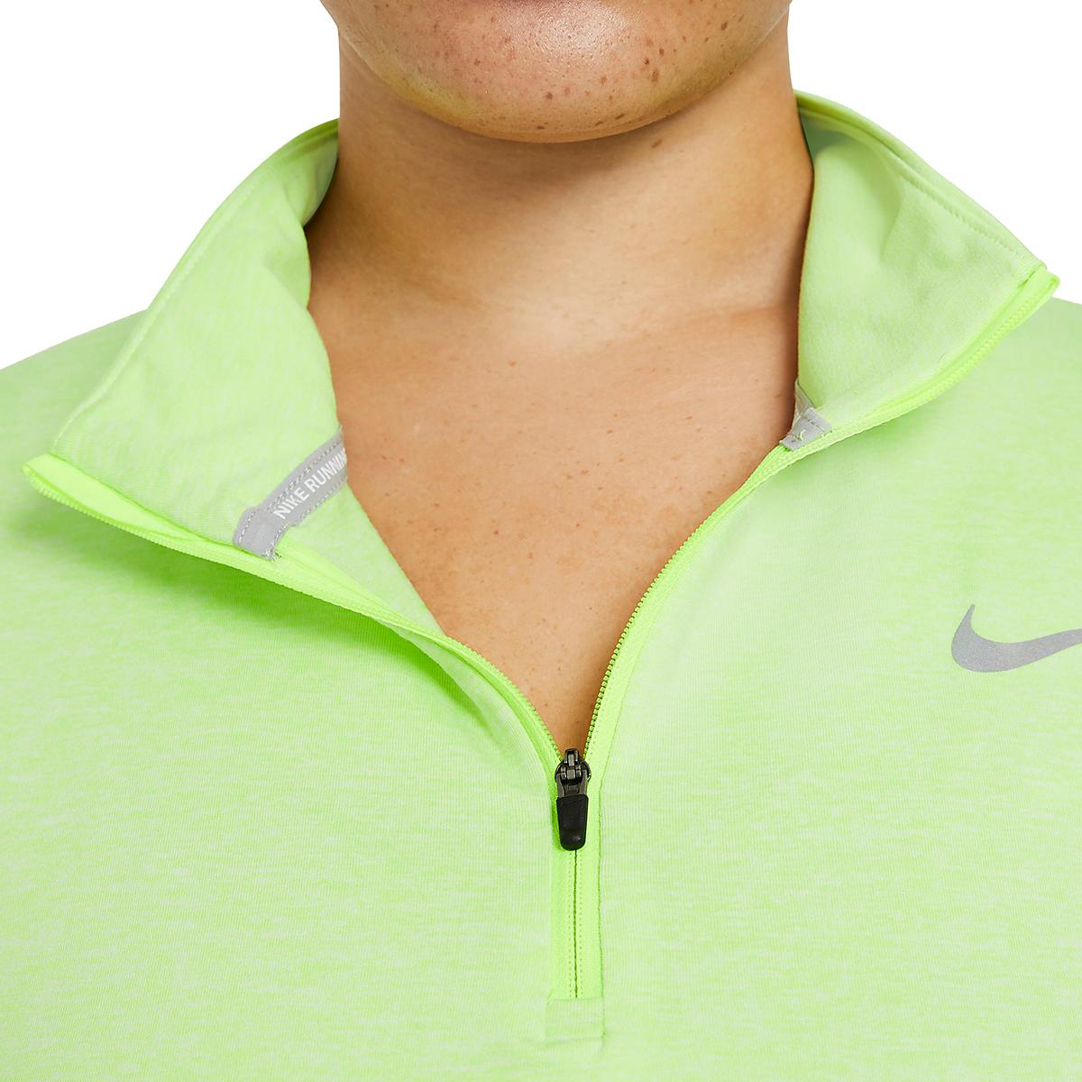 Women's Nike Element Top 1/2 Zip Long Sleeve - Color: Volt/Barely Volt/Htr/Reflective Silver - Size: XS, Volt/Barely Volt/Htr/Reflective Silver, large, image 4