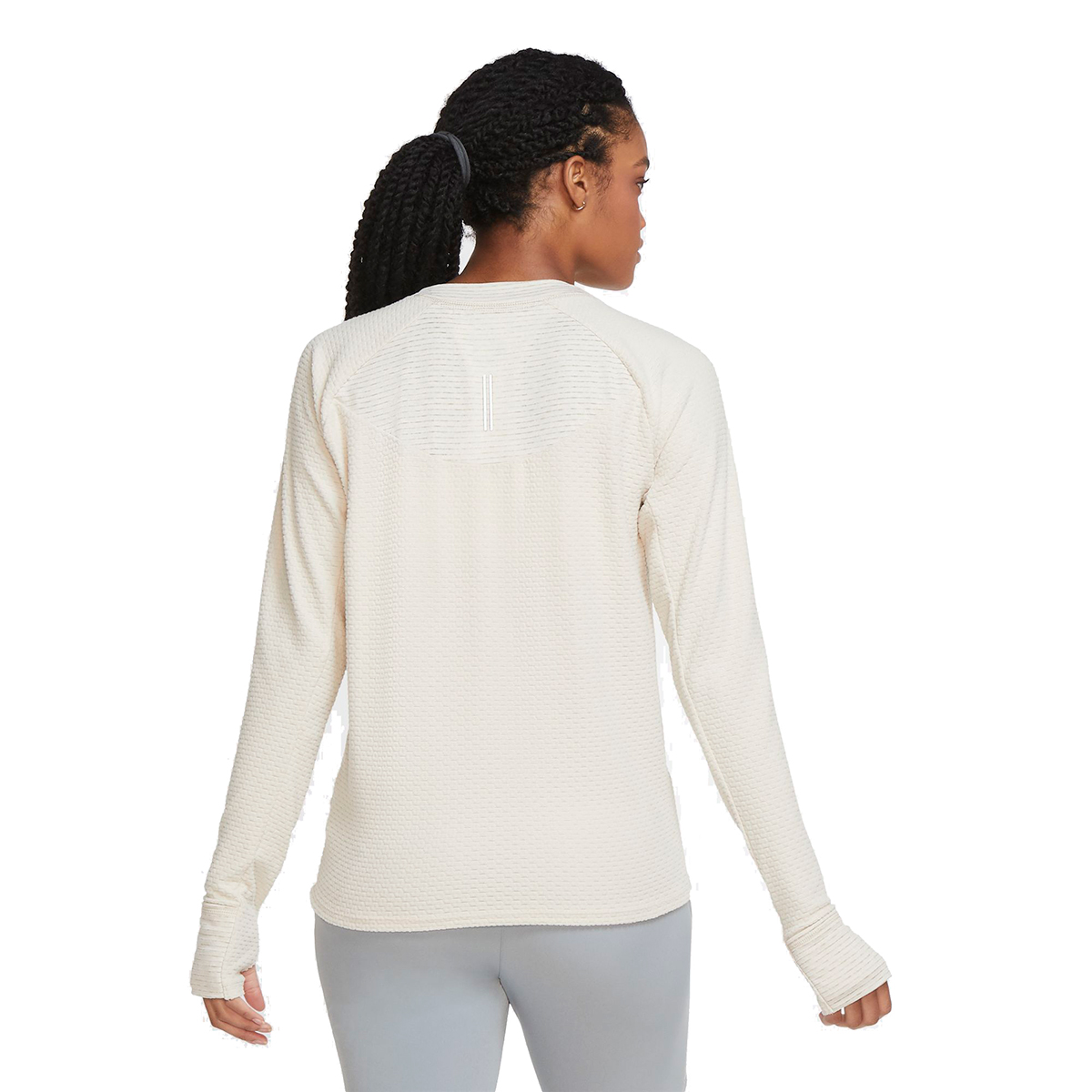 Women's Nike Sphere Crew Long Sleeve Shirt - Color: Oatmeal/Heather - Size: XS, Oatmeal/Heather, large, image 2