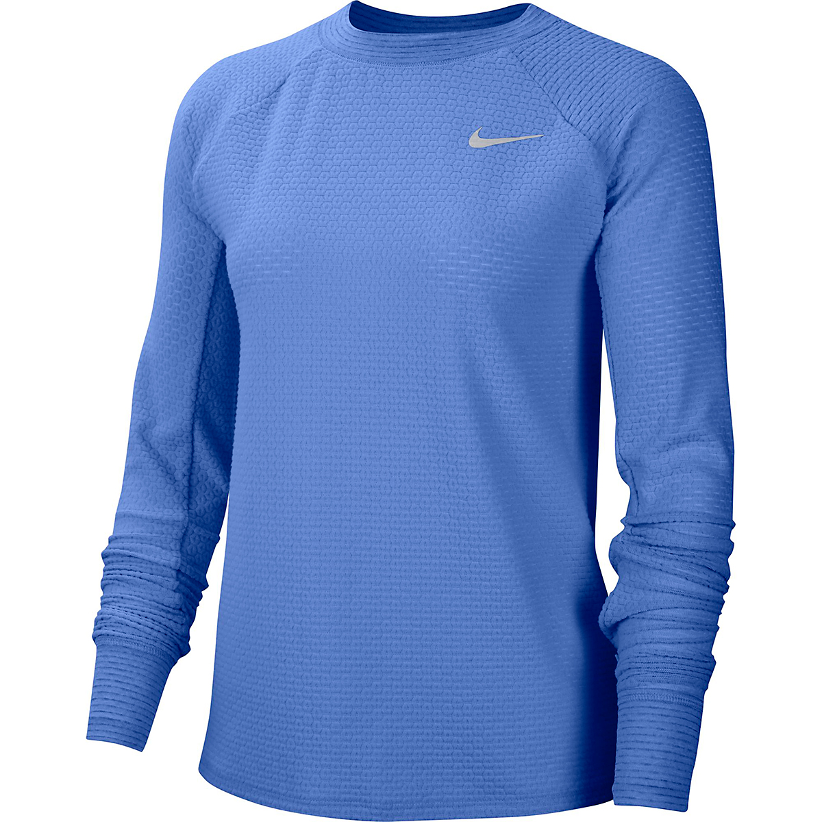 Women's Nike Sphere Crew Long Sleeve Shirt - Color: Royal Pulse/Reflective Silver - Size: XS, Royal Pulse/Reflective Silver, large, image 1