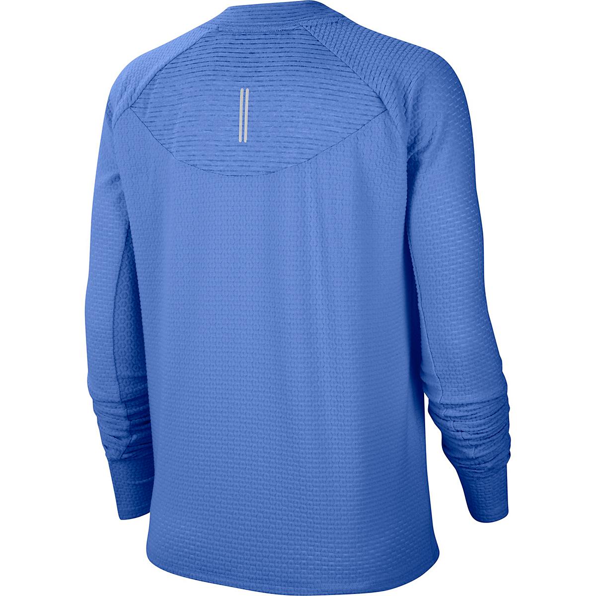 Women's Nike Sphere Crew Long Sleeve Shirt - Color: Royal Pulse/Reflective Silver - Size: XS, Royal Pulse/Reflective Silver, large, image 2