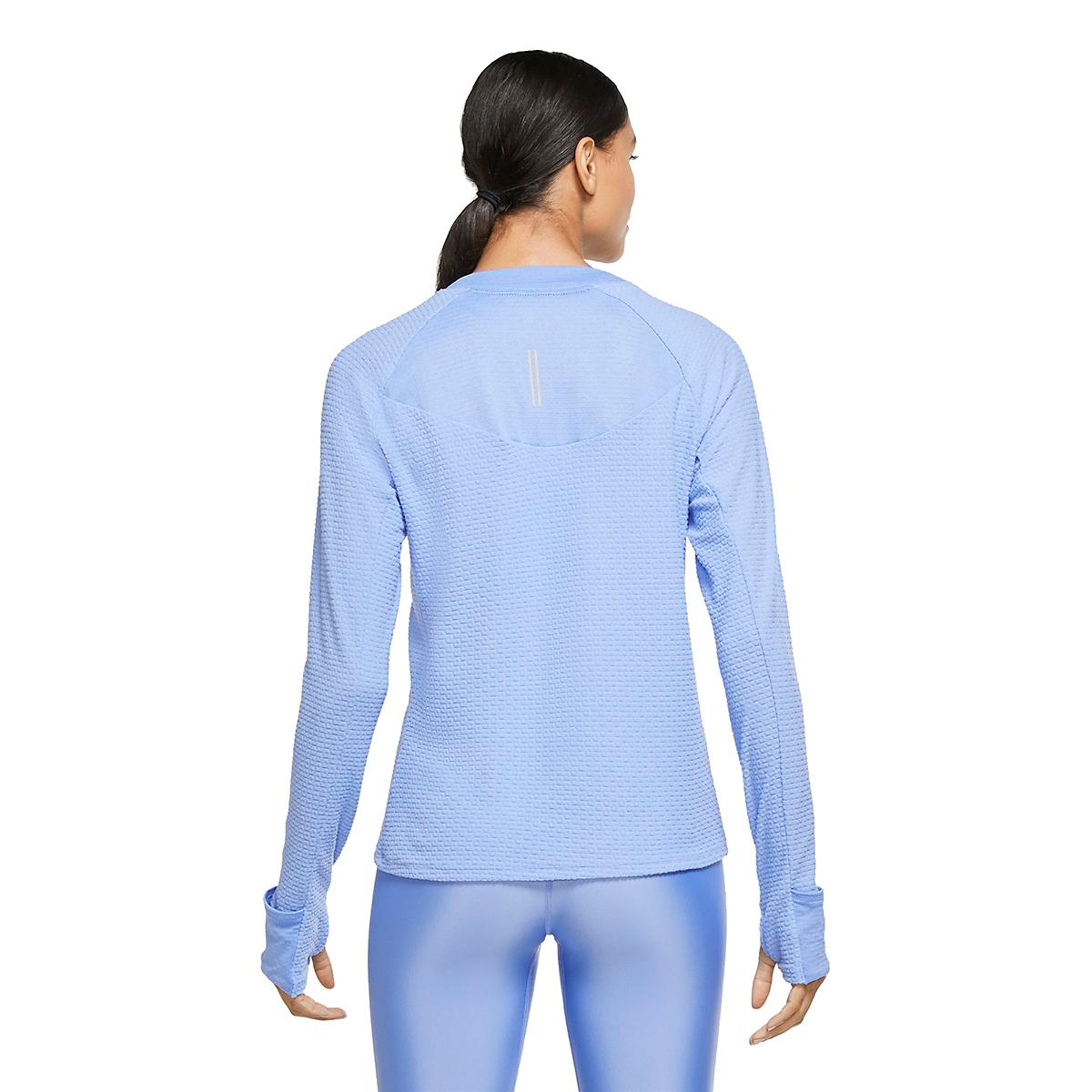 Women's Nike Sphere Crew Long Sleeve Shirt - Color: Royal Pulse/Reflective Silver - Size: XS, Royal Pulse/Reflective Silver, large, image 4