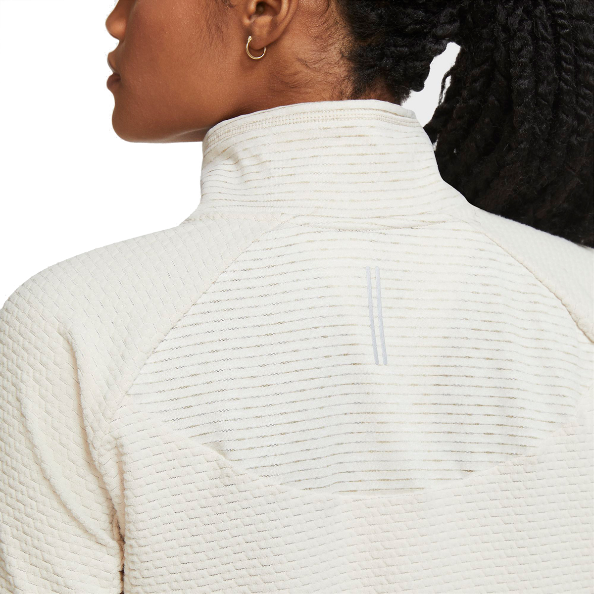 Women's Nike Sphere Half Zip Long Sleeve Shirt - Color: Oatmeal/Heather - Size: XS, Oatmeal/Heather, large, image 4