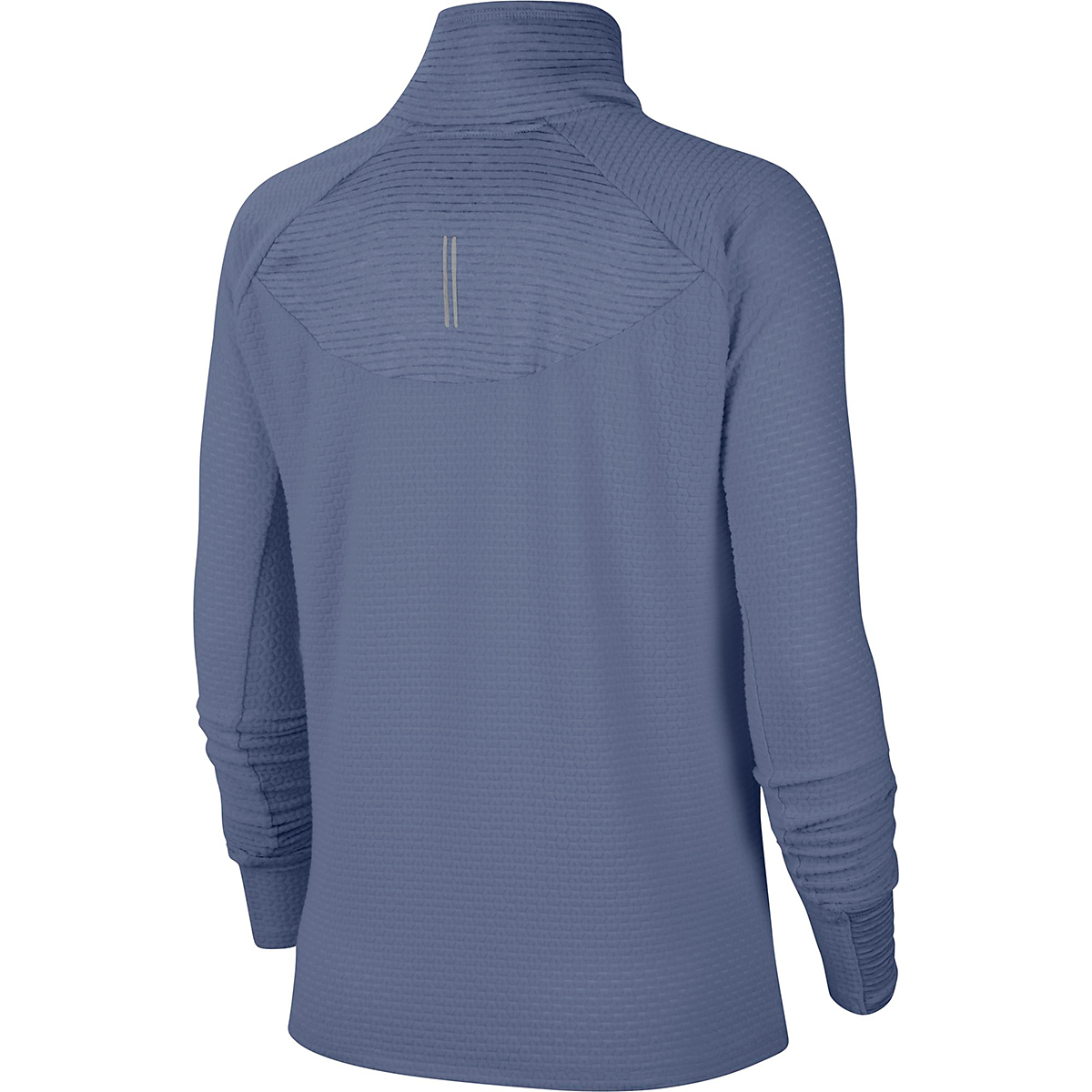 Women's Nike Sphere Half Zip Long Sleeve Shirt - Color: World Indigo/Reflective Silver - Size: XS, World Indigo/Reflective Silver, large, image 2
