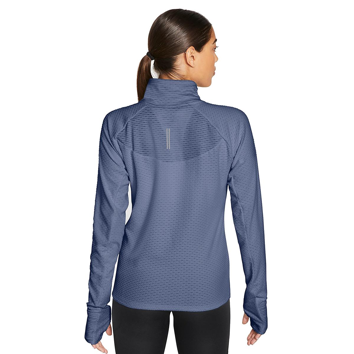 Women's Nike Sphere Half Zip Long Sleeve Shirt - Color: World Indigo/Reflective Silver - Size: XS, World Indigo/Reflective Silver, large, image 4