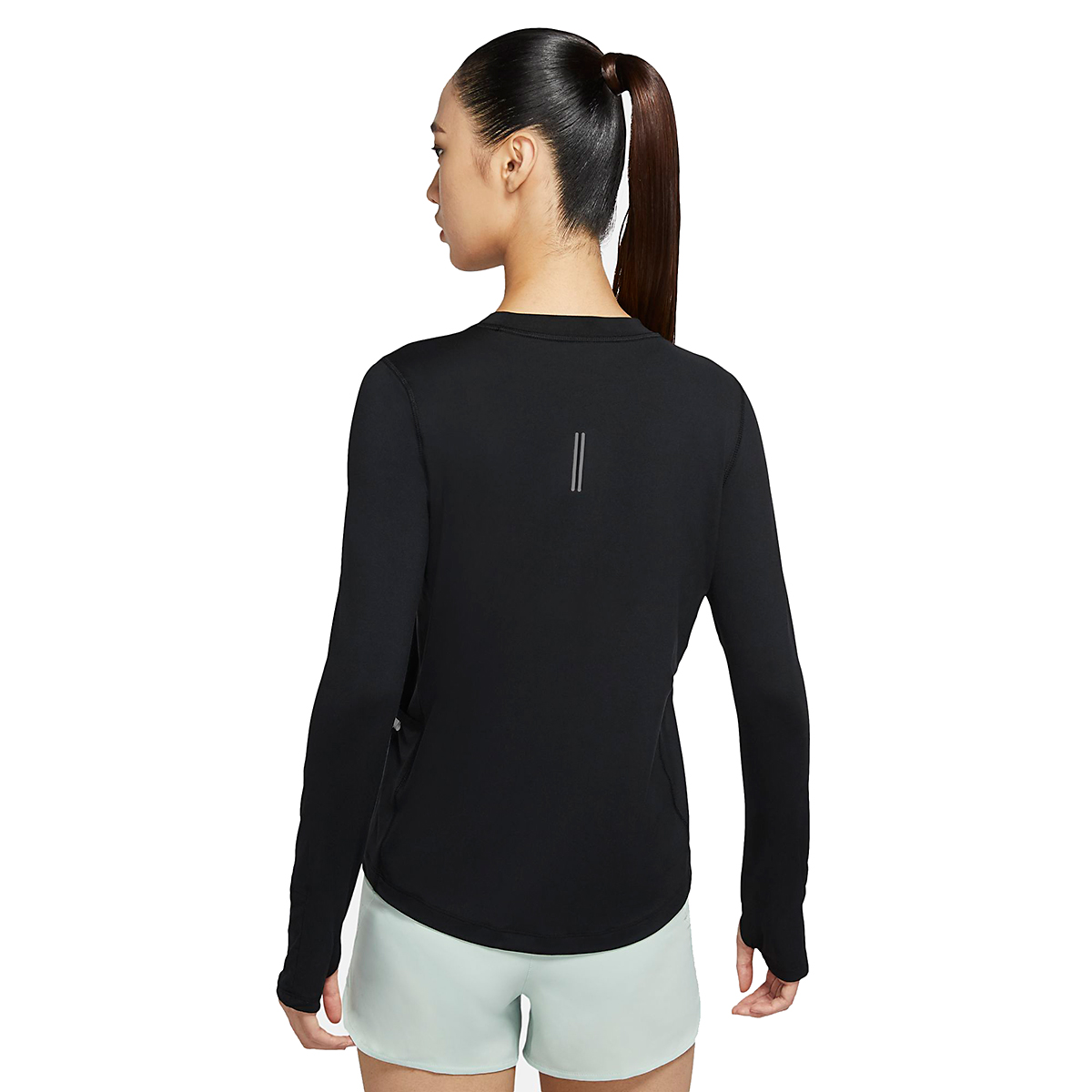 Women's Nike Element Crew Long Sleeve - Color: Black/Reflective Silver - Size: XS, Black/Reflective Silver, large, image 4