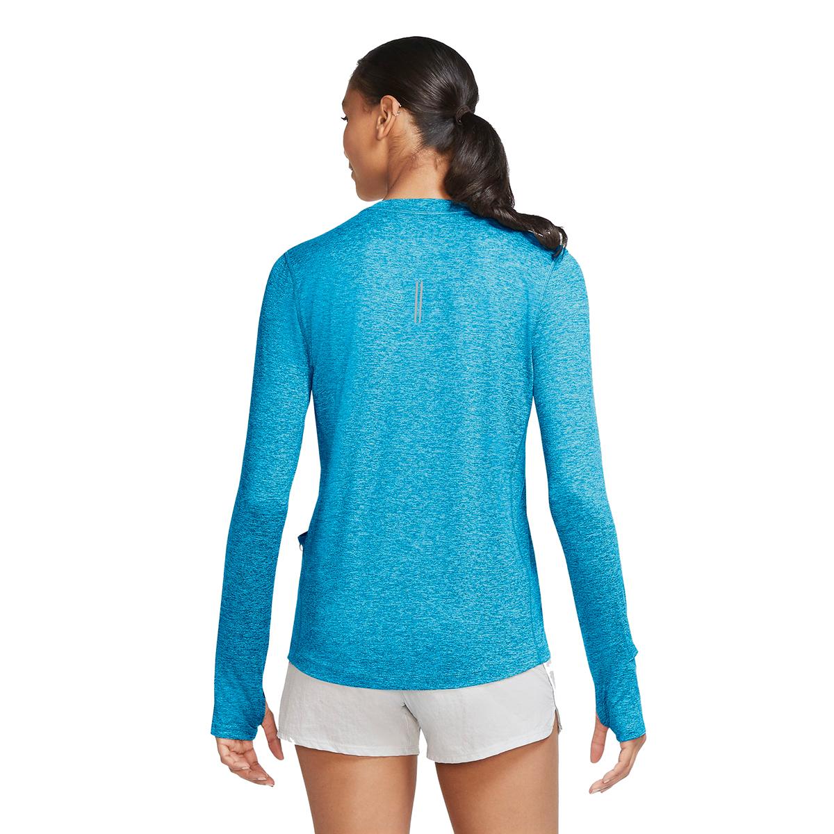 Women's Nike Element Crew Long Sleeve Shirt - Color: Lazer Blue/Glacier Ice - Size: XS, Lazer Blue/Glacier Ice, large, image 2