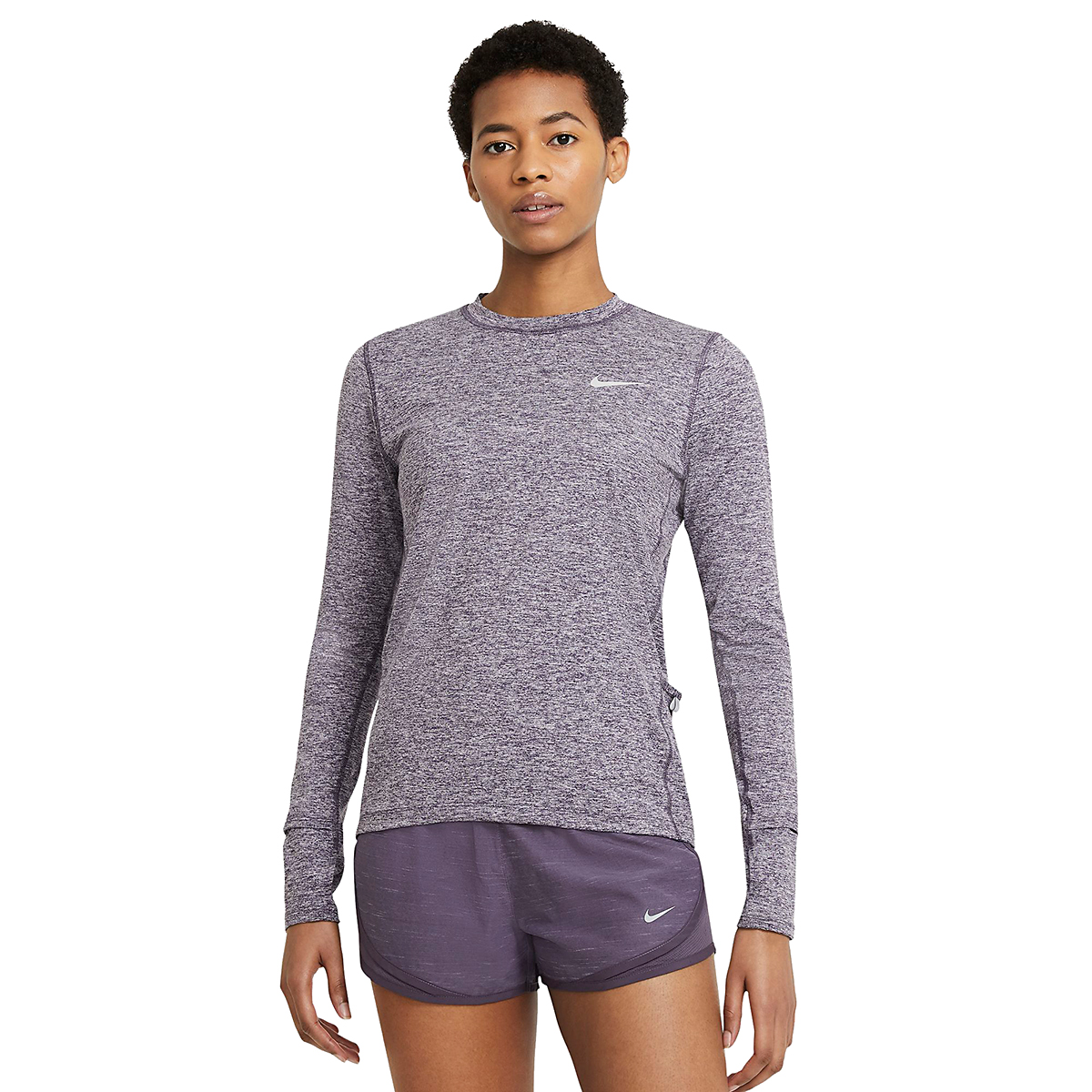 Women's Nike Element Crew Long Sleeve - Color: Dark Raisin/Light Violet/Reflective Silver - Size: XS, Dark Raisin/Light Violet/Reflective Silver, large, image 1