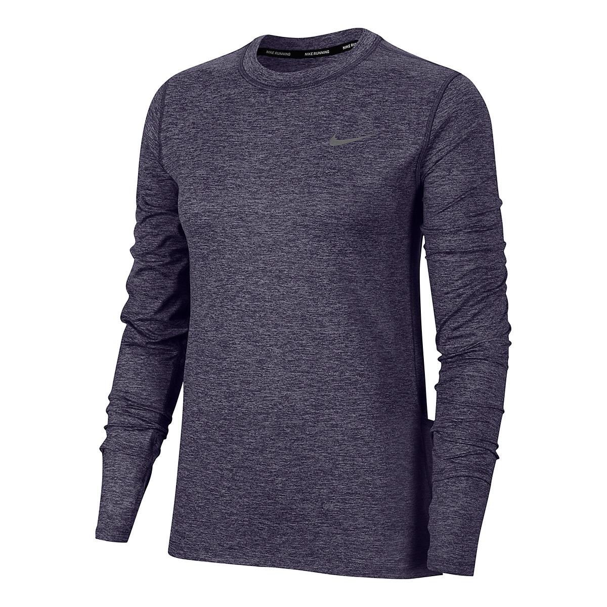 Women's Nike Element Crew Long Sleeve - Color: Dark Raisin/Light Violet/Reflective Silver - Size: XS, Dark Raisin/Light Violet/Reflective Silver, large, image 2