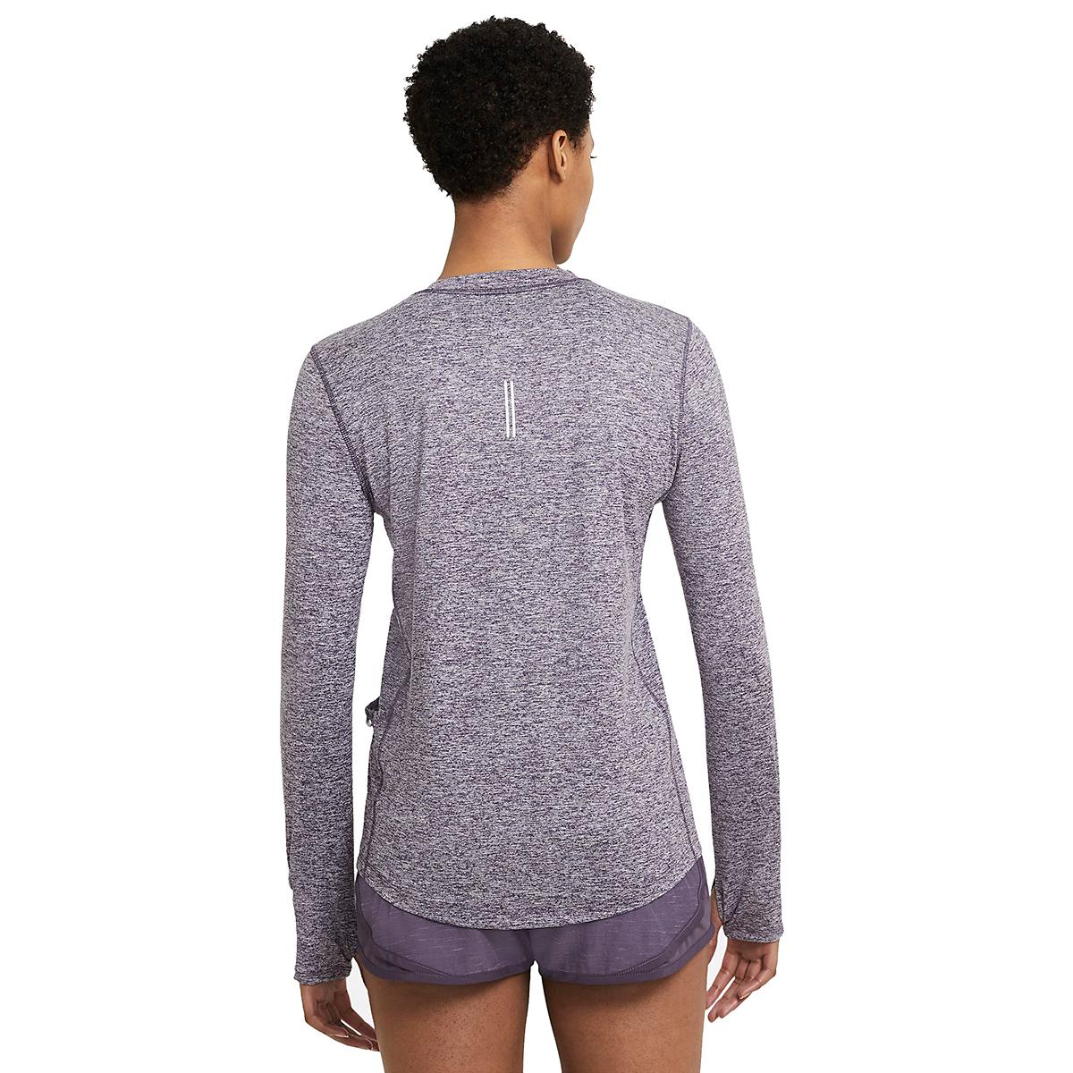 Women's Nike Element Crew Long Sleeve - Color: Dark Raisin/Light Violet/Reflective Silver - Size: XS, Dark Raisin/Light Violet/Reflective Silver, large, image 3