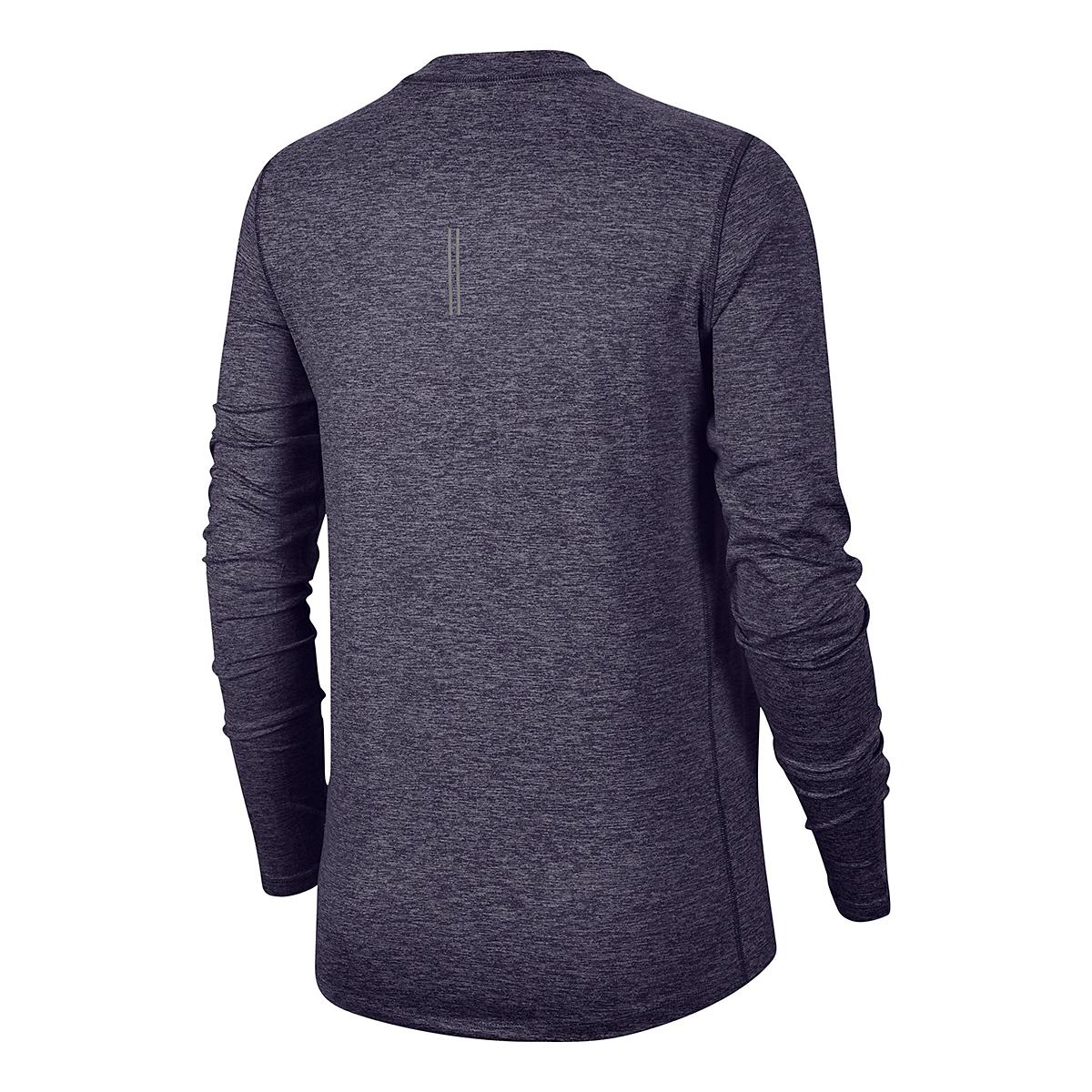 Women's Nike Element Crew Long Sleeve - Color: Dark Raisin/Light Violet/Reflective Silver - Size: XS, Dark Raisin/Light Violet/Reflective Silver, large, image 4