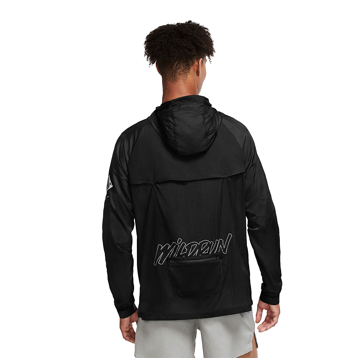 Men's Nike Windrunner Wild Run Running Jacket - Color: Black/Dark Smoke Grey/Claystone Red - Size: S, Black/Dark Smoke Grey/Claystone Red, large, image 2