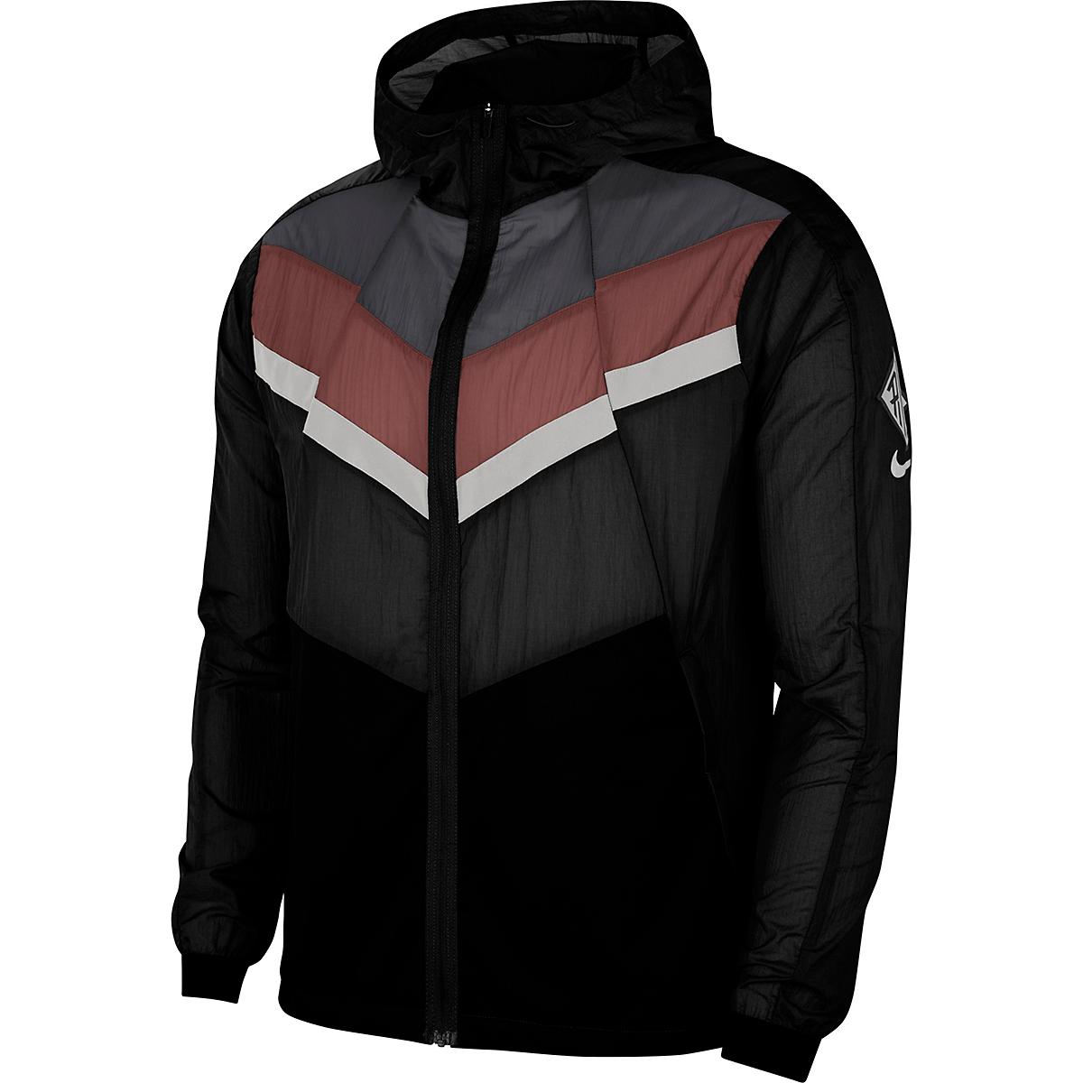 Men's Nike Windrunner Wild Run Running Jacket - Color: Black/Dark Smoke Grey/Claystone Red - Size: S, Black/Dark Smoke Grey/Claystone Red, large, image 3