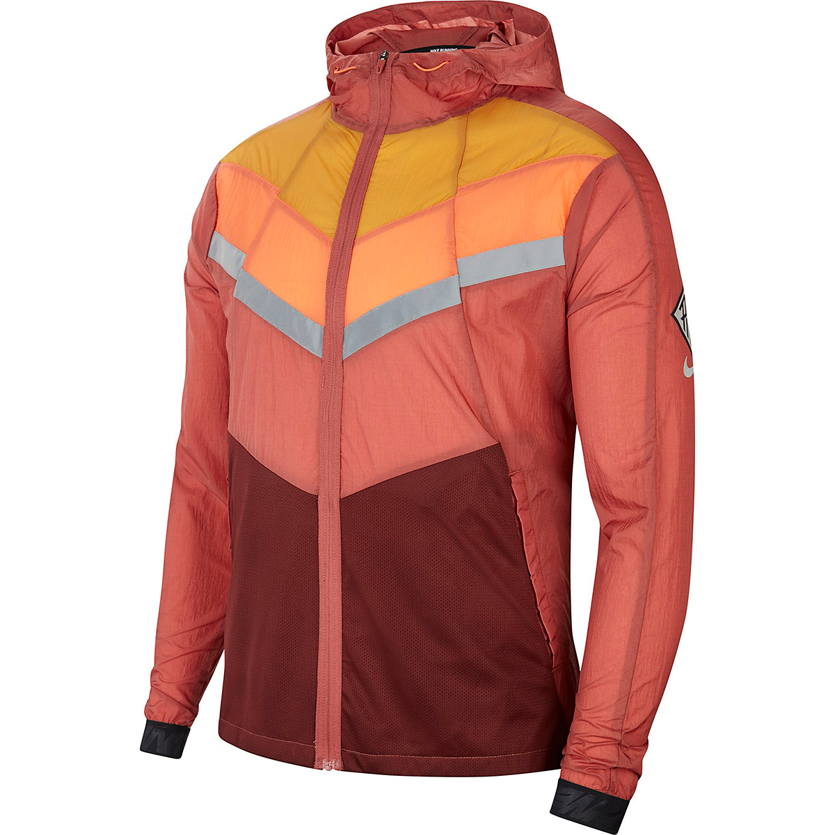 Men's Nike Windrunner Wild Run Running Jacket - Color: Claystone Red/Chutney/Camellia - Size: S, Claystone Red/Chutney/Camellia, large, image 3