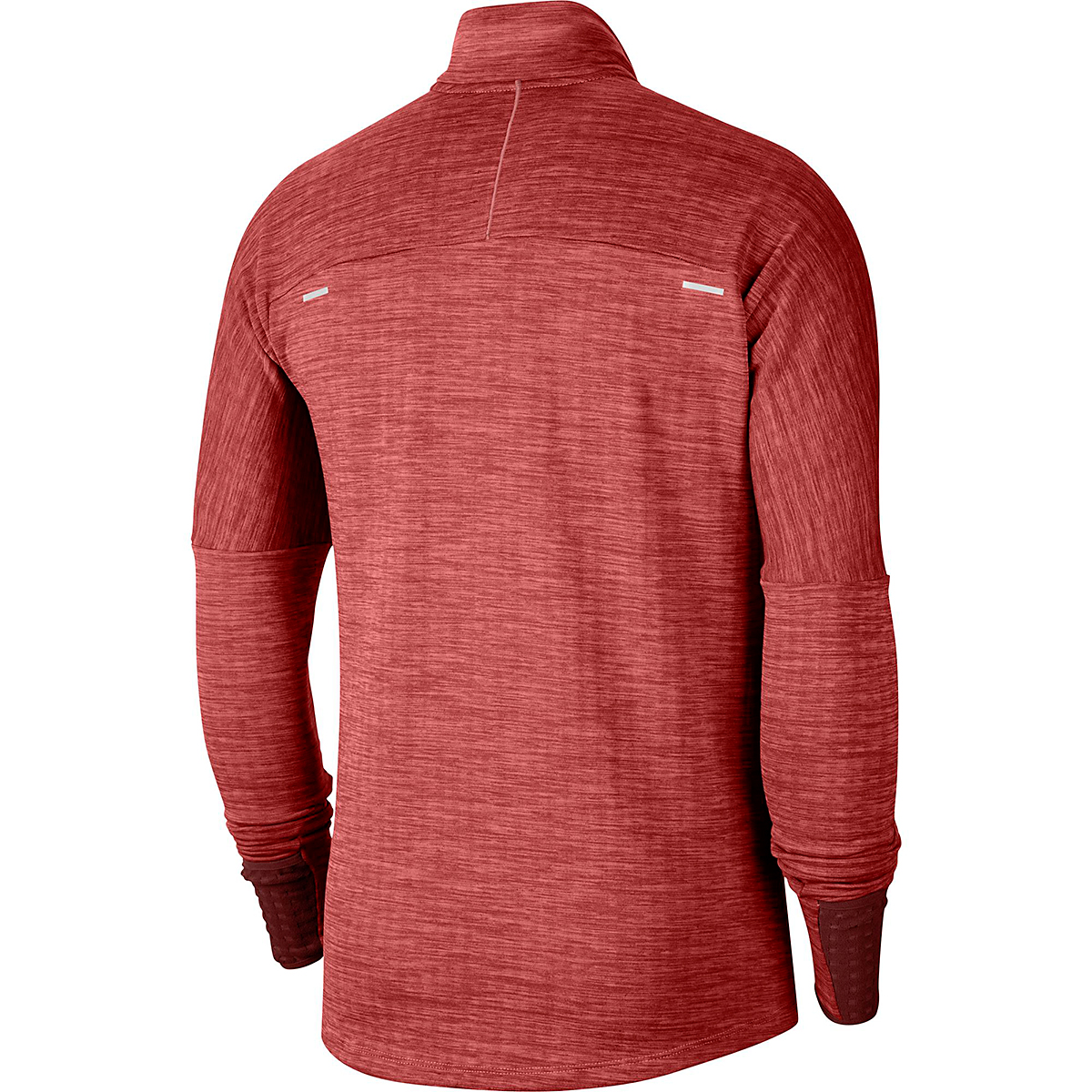 Men's Nike Sphere Half Zip Long Sleeve Shirt - Color: Mystic Dates/Heather/Chile Red - Size: S, Mystic Dates/Heather/Chile Red, large, image 4