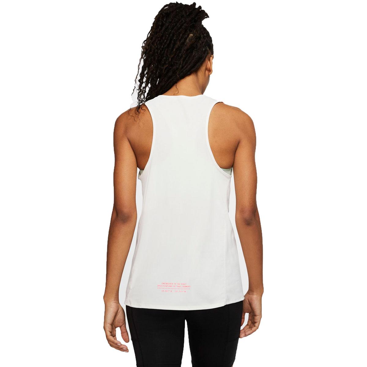 Women's Nike City Sleek Trail Running Tank - Color: Sail/Mint Foam/Laser Crimson - Size: XS, Sail/Mint Foam/Laser Crimson, large, image 2