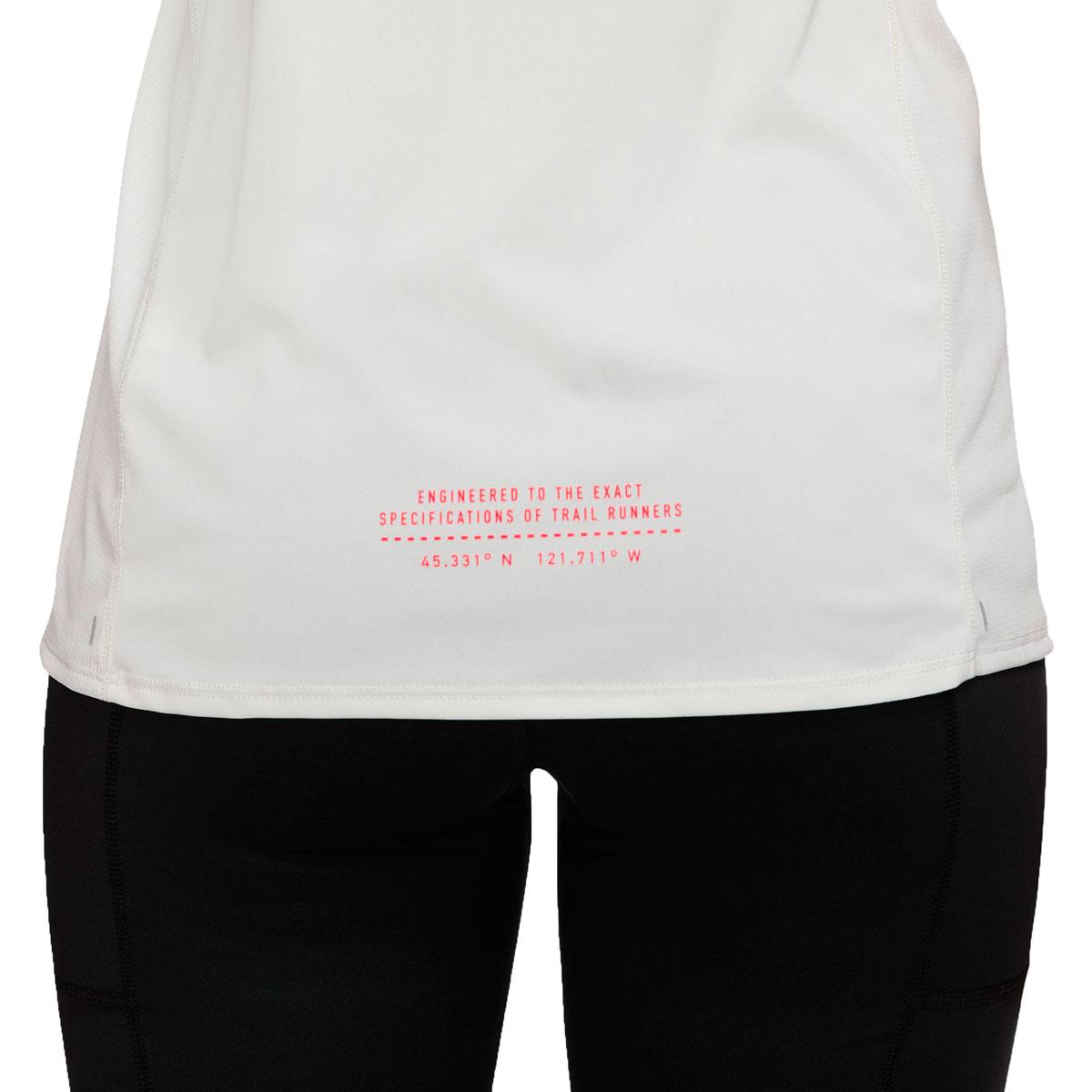 Women's Nike City Sleek Trail Running Tank - Color: Sail/Mint Foam/Laser Crimson - Size: XS, Sail/Mint Foam/Laser Crimson, large, image 4