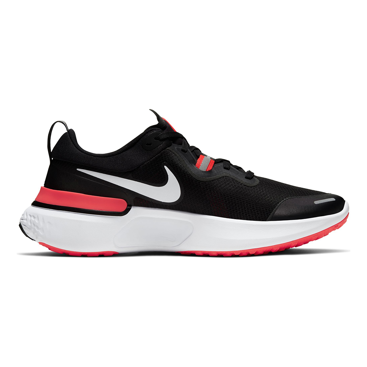 Men's Nike React Miler Running Shoe - Color: Black/Laser Crimson/Oil (Regular Width) - Size: 6, Black/Laser Crimson/Oil, large, image 1