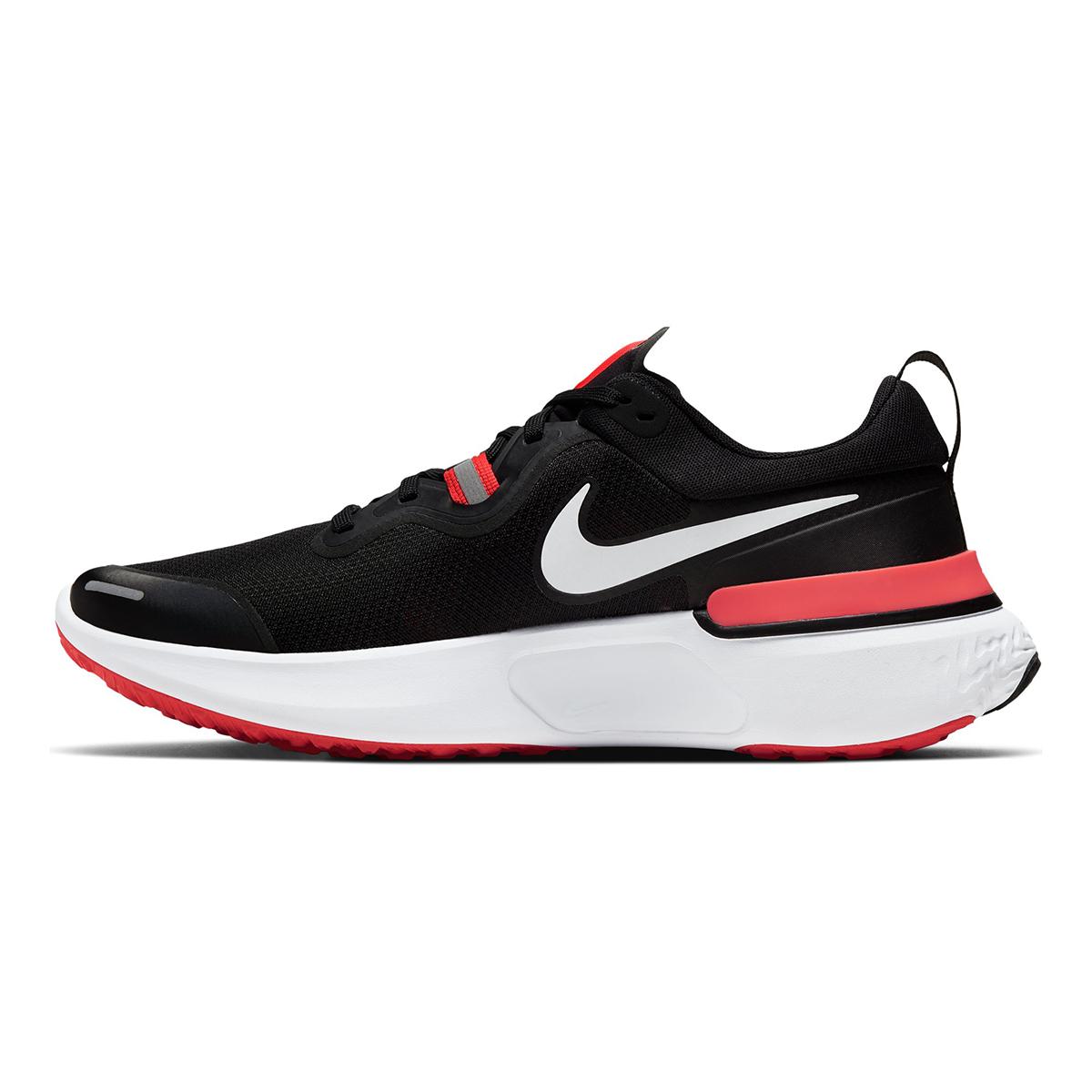 Men's Nike React Miler Running Shoe - Color: Black/Laser Crimson/Oil (Regular Width) - Size: 6, Black/Laser Crimson/Oil, large, image 2