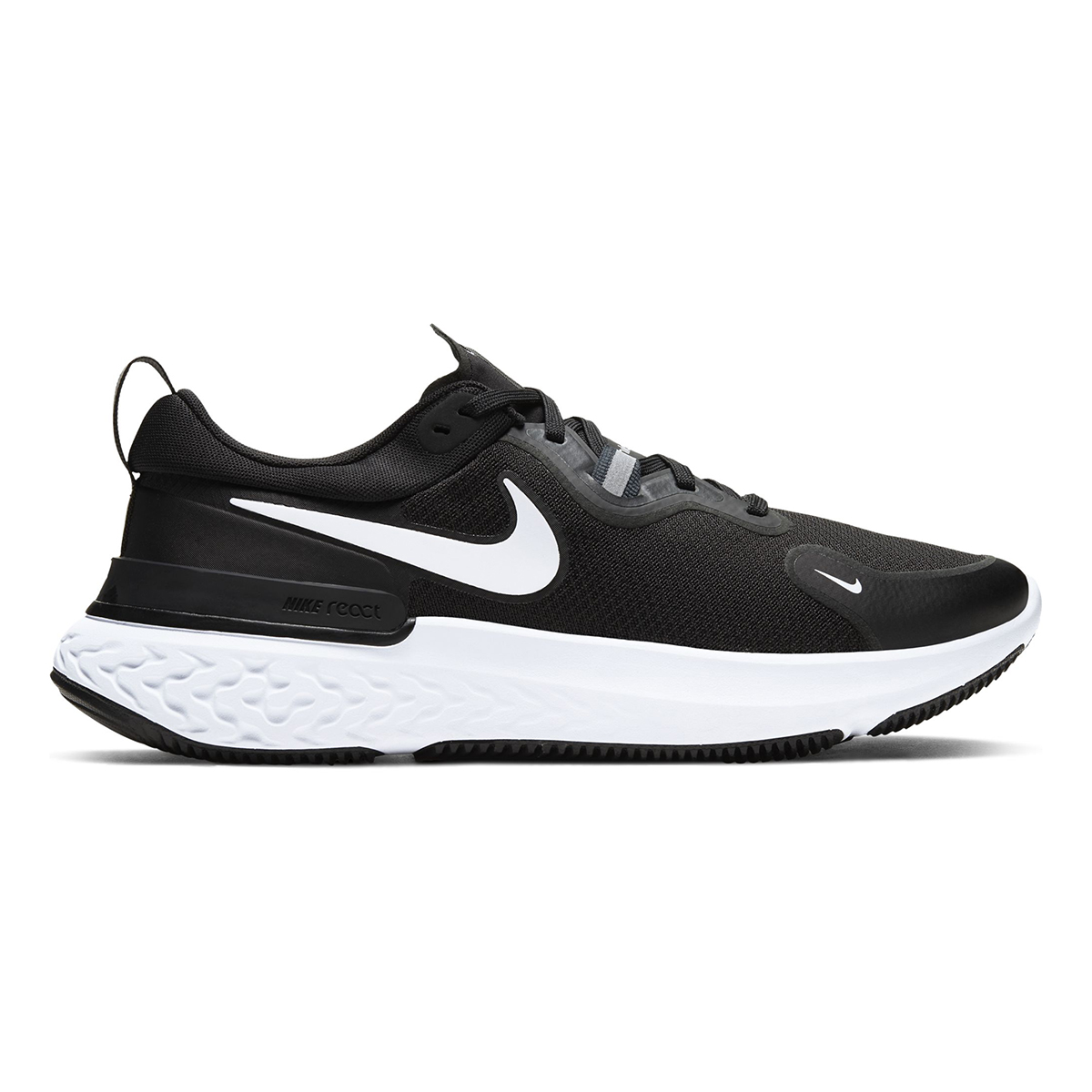 Men's Nike React Miler Running Shoe - Color: Black/Dark Grey/Anthracite/White (Regular Width) - Size: 6, Black/Dark Grey/Anthracite/White, large, image 1