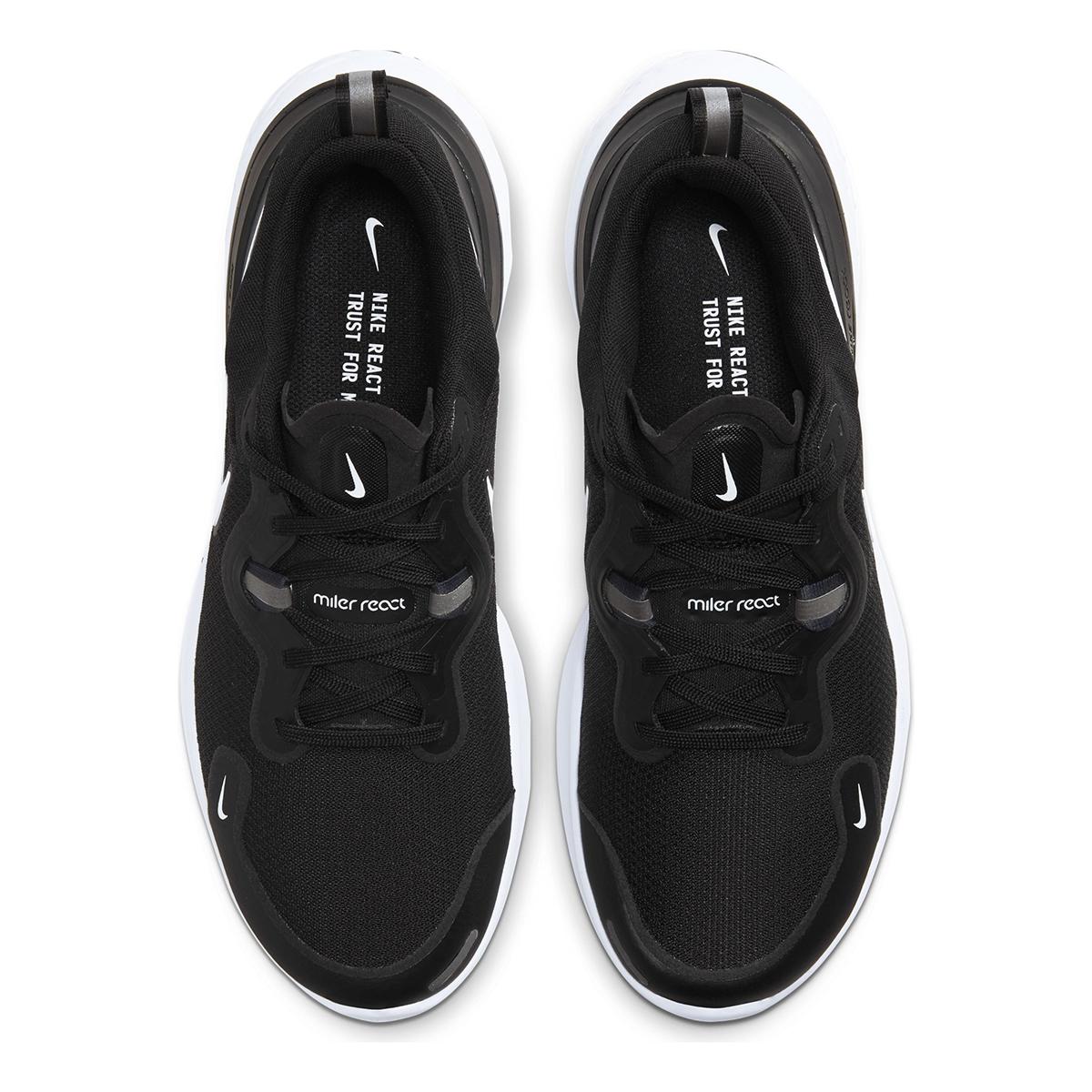 Men's Nike React Miler Running Shoe - Color: Black/Dark Grey/Anthracite/White (Regular Width) - Size: 6, Black/Dark Grey/Anthracite/White, large, image 5