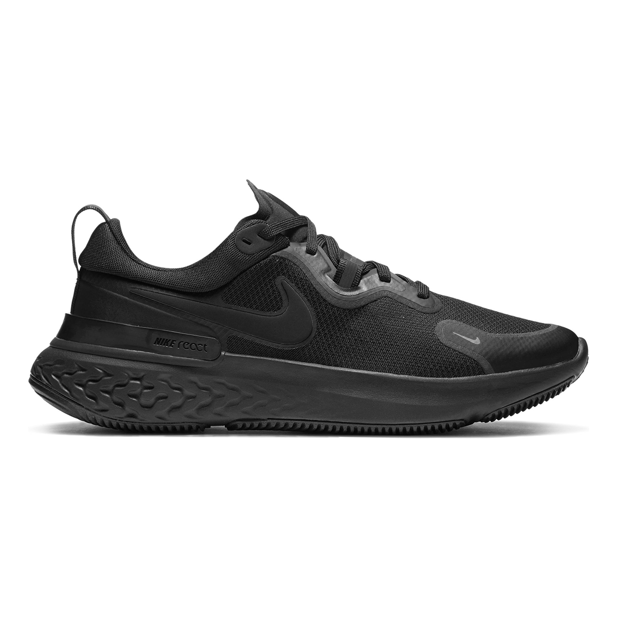 Men's Nike React Miler Running Shoe - Color: Black/Iron Grey/White/Black - Size: 6 - Width: Regular, Black/Iron Grey/White/Black, large, image 1