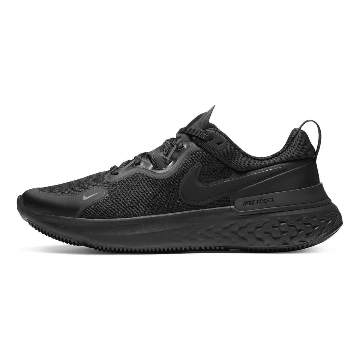 Men's Nike React Miler Running Shoe - Color: Black/Iron Grey/White/Black - Size: 6 - Width: Regular, Black/Iron Grey/White/Black, large, image 3