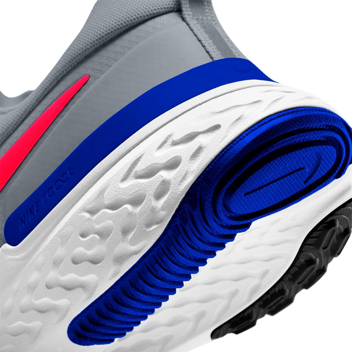 Men's Nike React Miler Running Shoe - Color: Pure Platinum/Racer Blue/Platinum Tint/Bright Crimson - Size: 6 - Width: Regular, Pure Platinum/Racer Blue/Platinum Tint/Bright Crimson, large, image 4