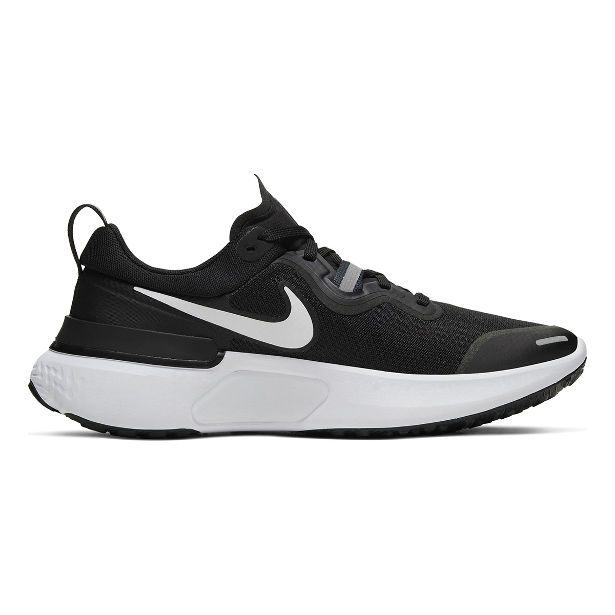 Women's Nike React Miler Running Shoe - Color: Black/Dark Grey/Anthracite/White (Regular Width) - Size: 5, Black/Dark Grey/Anthracite/White, large, image 1