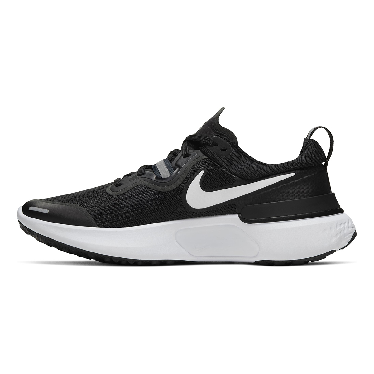 Women's Nike React Miler Running Shoe - Color: Black/Dark Grey/Anthracite/White (Regular Width) - Size: 5, Black/Dark Grey/Anthracite/White, large, image 2