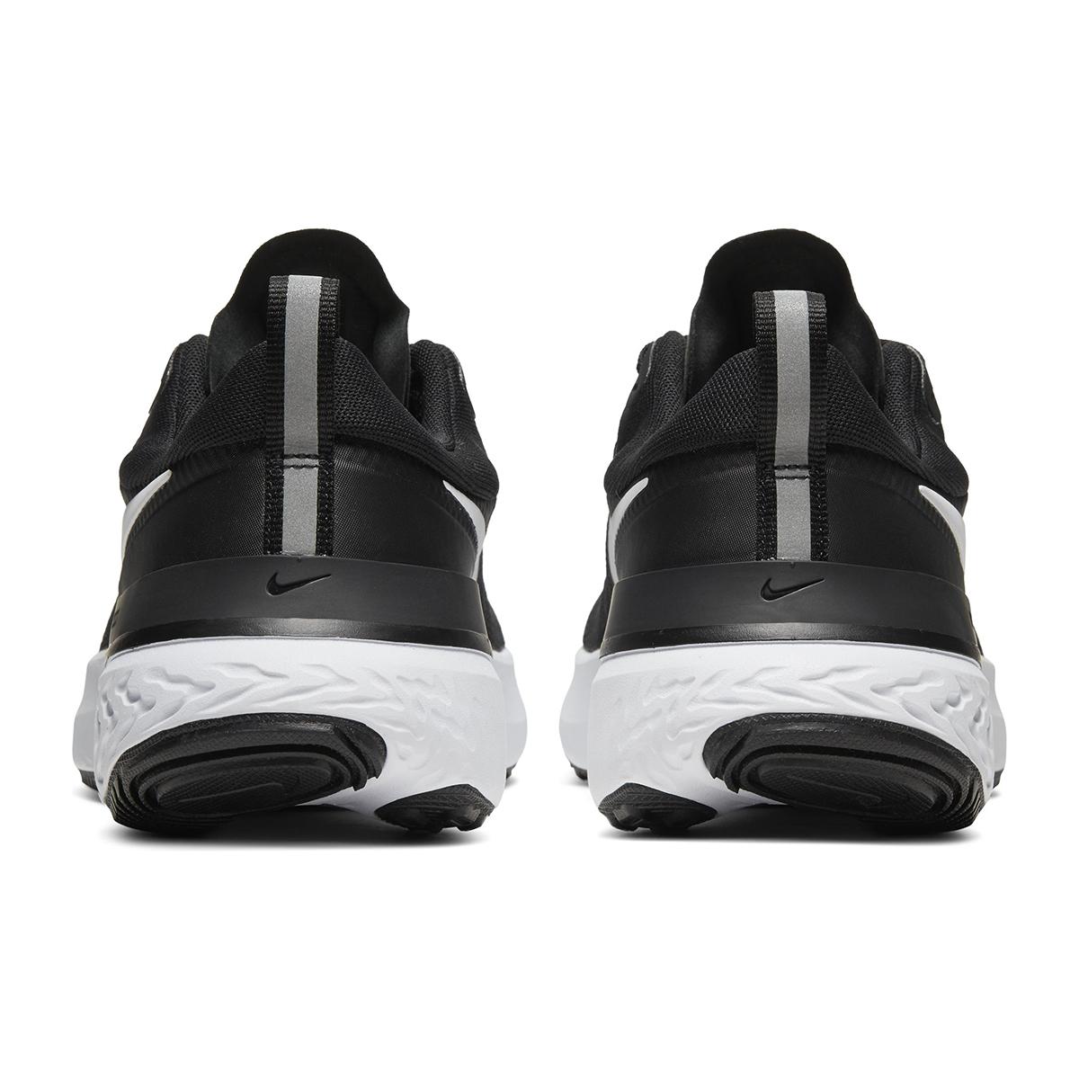 Women's Nike React Miler Running Shoe - Color: Black/Dark Grey/Anthracite/White (Regular Width) - Size: 5, Black/Dark Grey/Anthracite/White, large, image 3