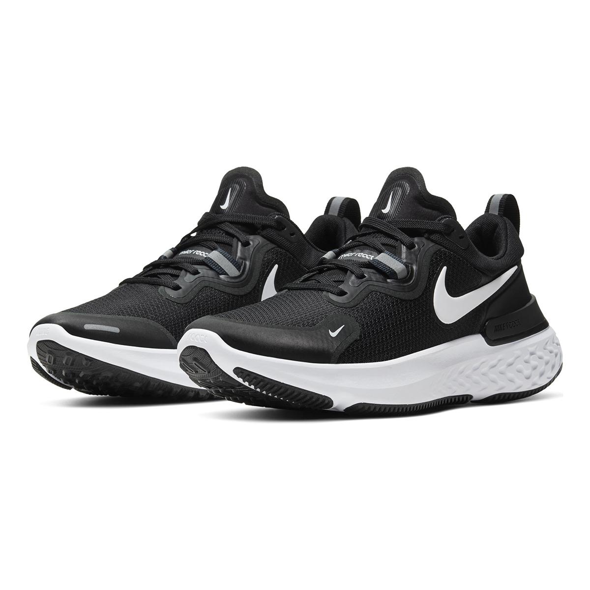 Women's Nike React Miler Running Shoe - Color: Black/Dark Grey/Anthracite/White (Regular Width) - Size: 5, Black/Dark Grey/Anthracite/White, large, image 4