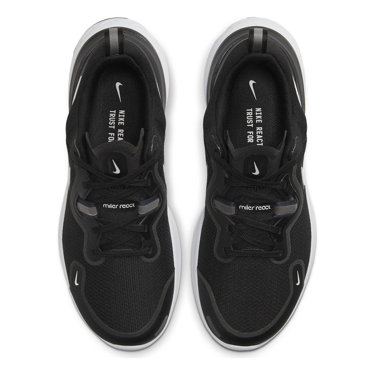 Women's Nike React Miler Running Shoe - Color: Black/Dark Grey/Anthracite/White (Regular Width) - Size: 5, Black/Dark Grey/Anthracite/White, large, image 5