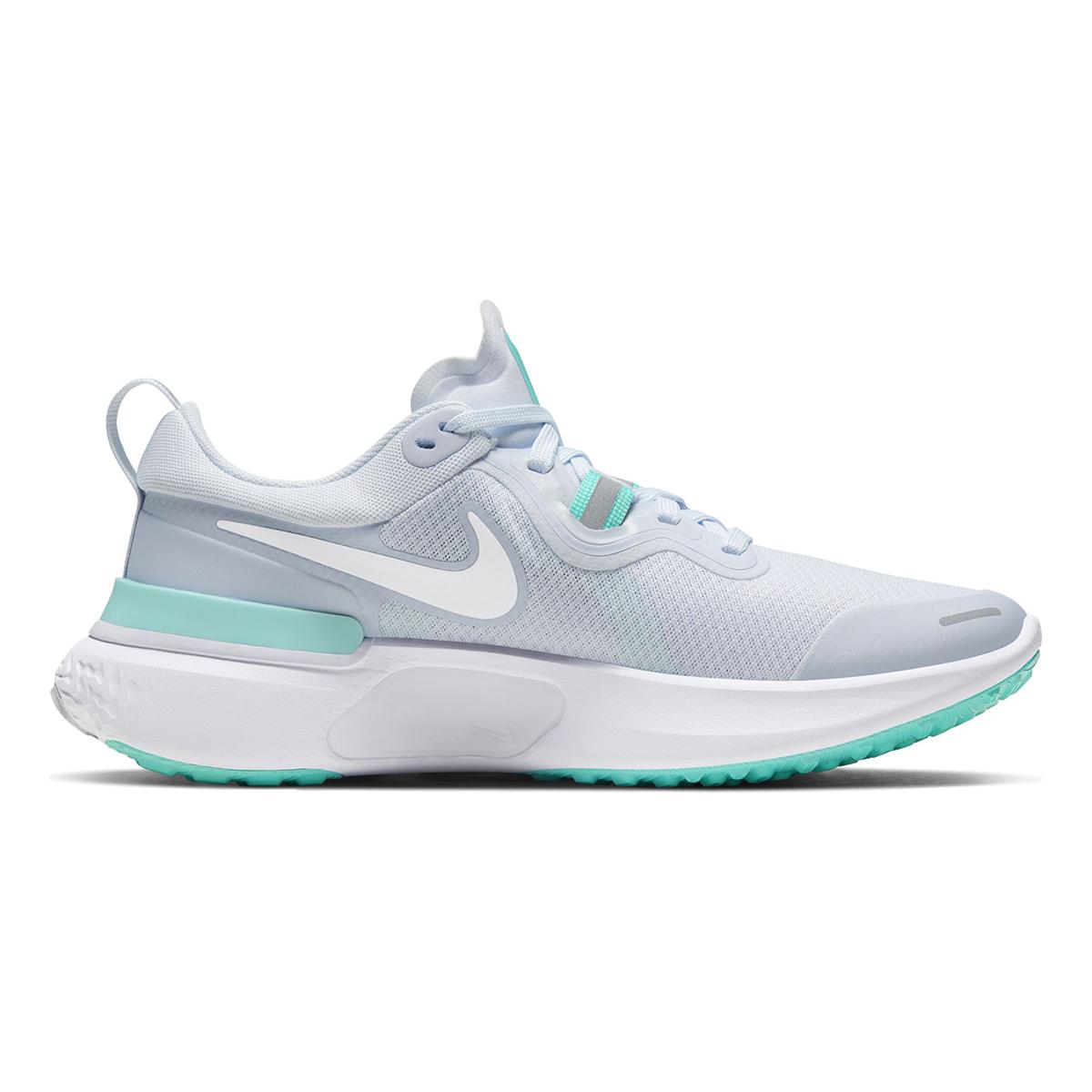 Women's Nike React Miler Running Shoe - Color: Football Grey/Aurora Green/White (Regular Width) - Size: 5.5, Football Grey/Aurora Green/White, large, image 1