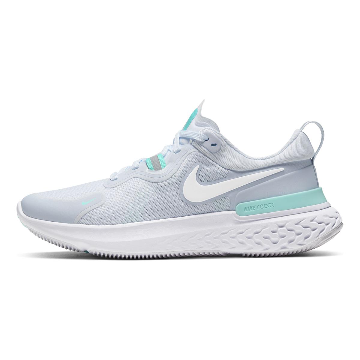 Women's Nike React Miler Running Shoe - Color: Football Grey/Aurora Green/White (Regular Width) - Size: 5.5, Football Grey/Aurora Green/White, large, image 2