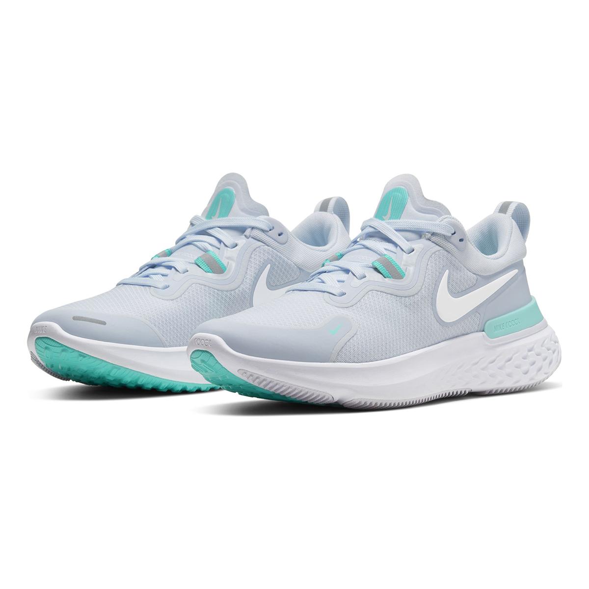 Women's Nike React Miler Running Shoe - Color: Football Grey/Aurora Green/White (Regular Width) - Size: 5.5, Football Grey/Aurora Green/White, large, image 4