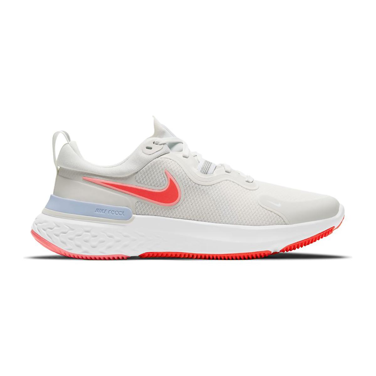 Women's Nike React Miler Running Shoe - Color: Platinum Tint/Bright Chrimson - Size: 5 - Width: Regular, Platinum Tint/Bright Chrimson, large, image 1