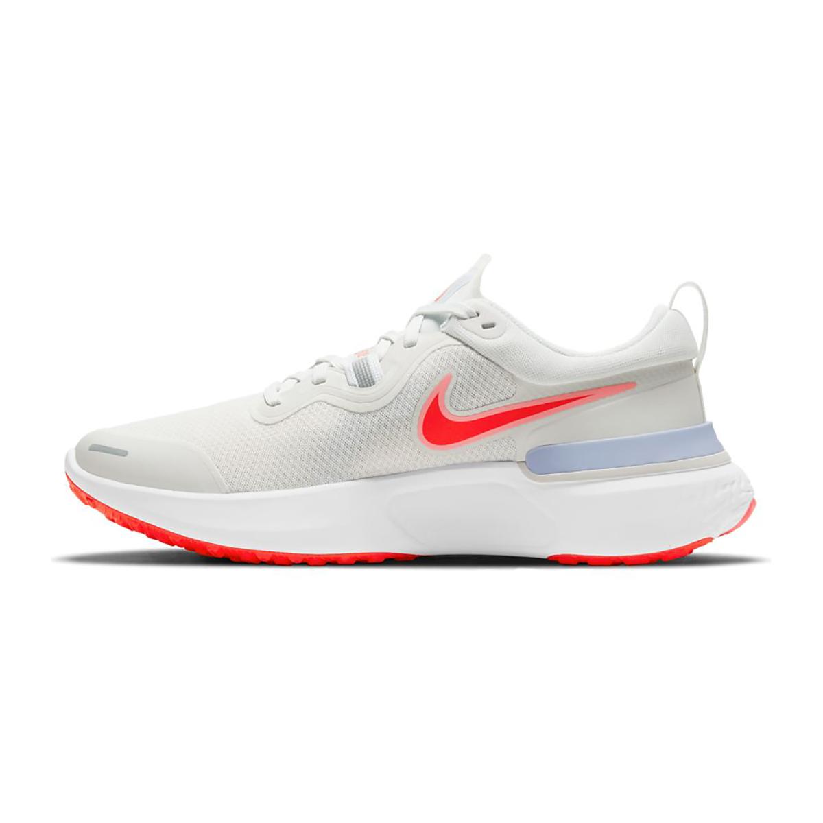 Women's Nike React Miler Running Shoe - Color: Platinum Tint/Bright Chrimson - Size: 5 - Width: Regular, Platinum Tint/Bright Chrimson, large, image 2