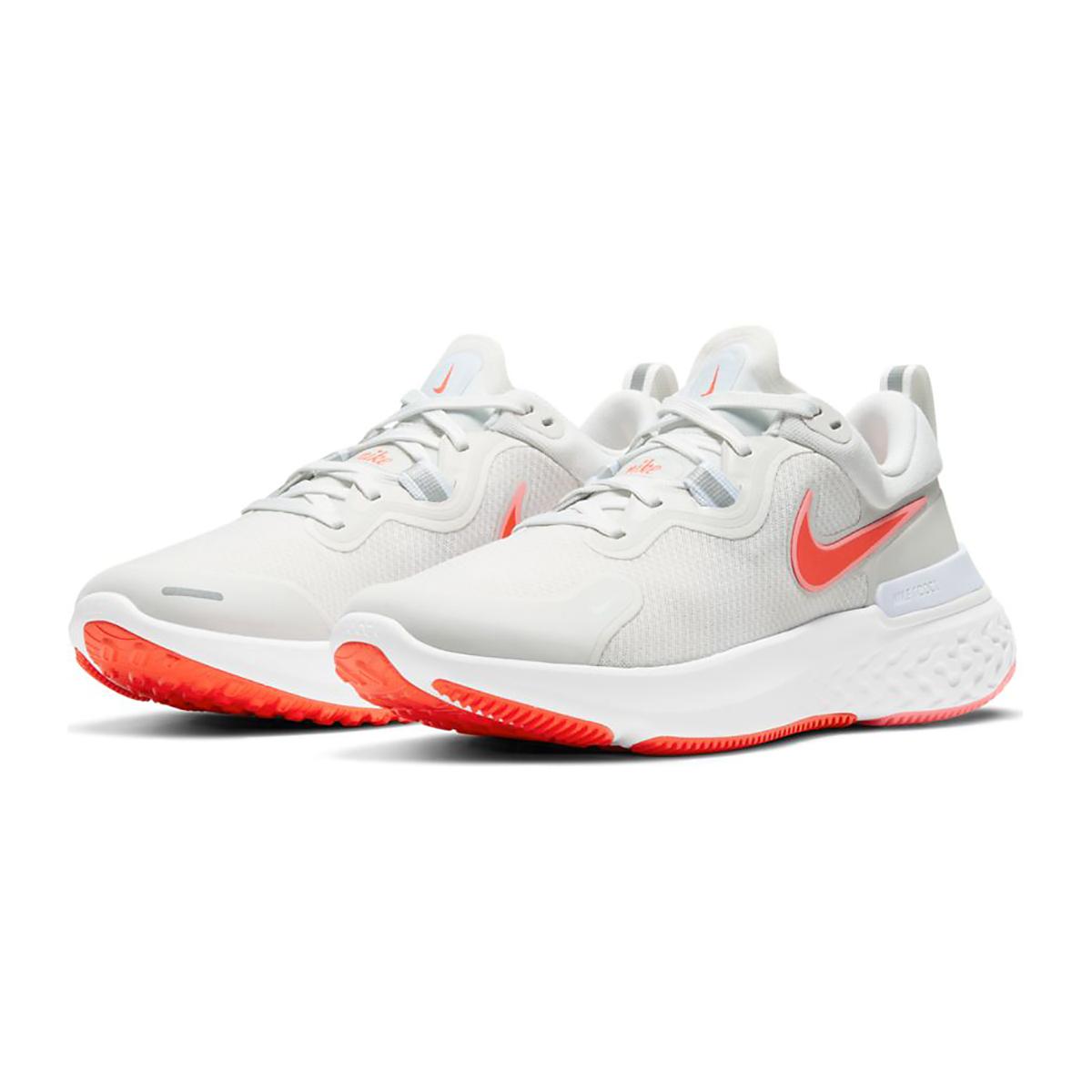 Women's Nike React Miler Running Shoe - Color: Platinum Tint/Bright Chrimson - Size: 5 - Width: Regular, Platinum Tint/Bright Chrimson, large, image 4
