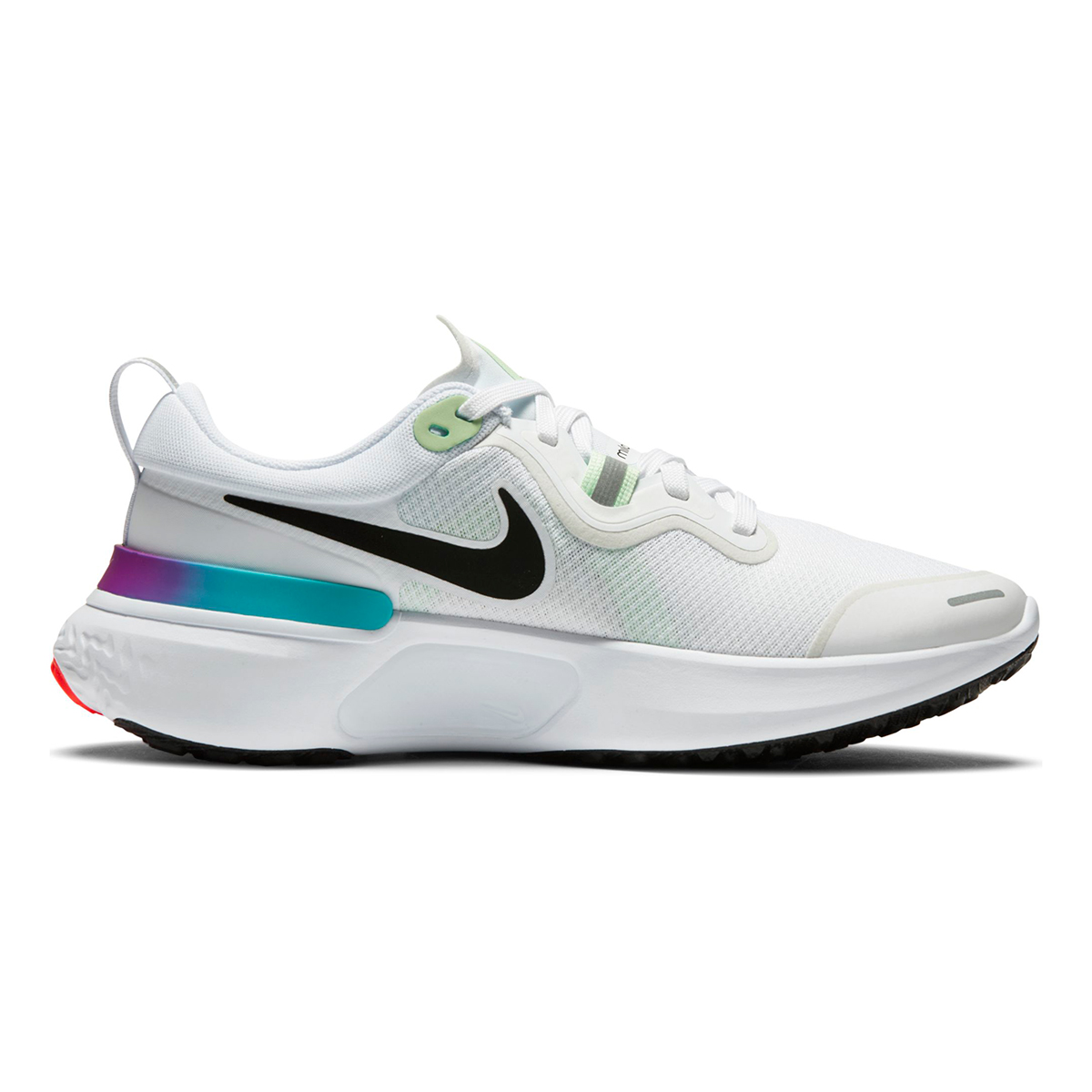 Women's Nike React Miler Running Shoe - Color: White/Vapor Green/Hyper Jade/Black - Size: 5 - Width: Regular, White/Vapor Green/Hyper Jade/Black, large, image 1