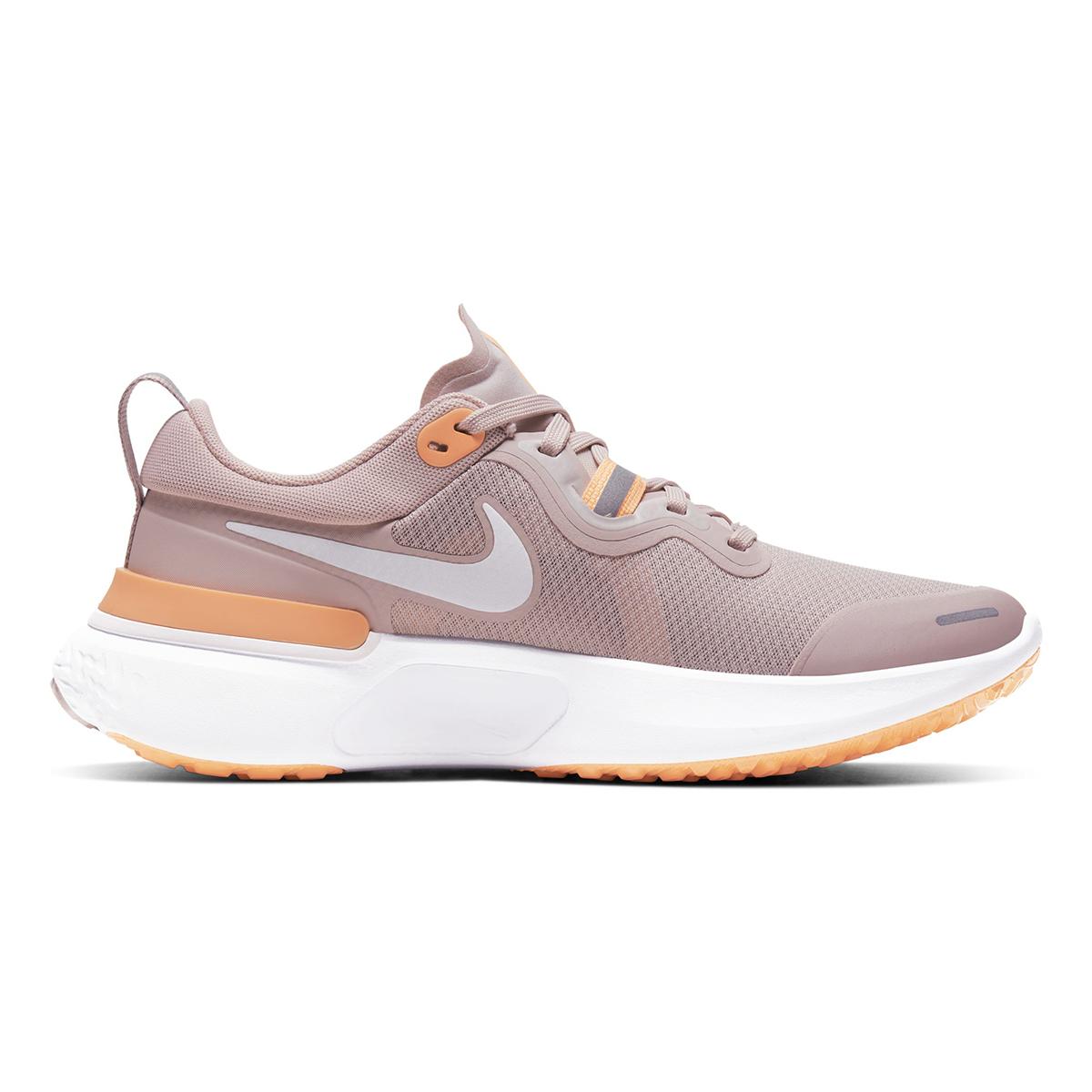 Women's Nike React Miler Running Shoe - Color: Champagne/Orange Pulse/Barely Rose/White (Regular Width) - Size: 5, Champagne/Orange Pulse/Barely Rose/White, large, image 1