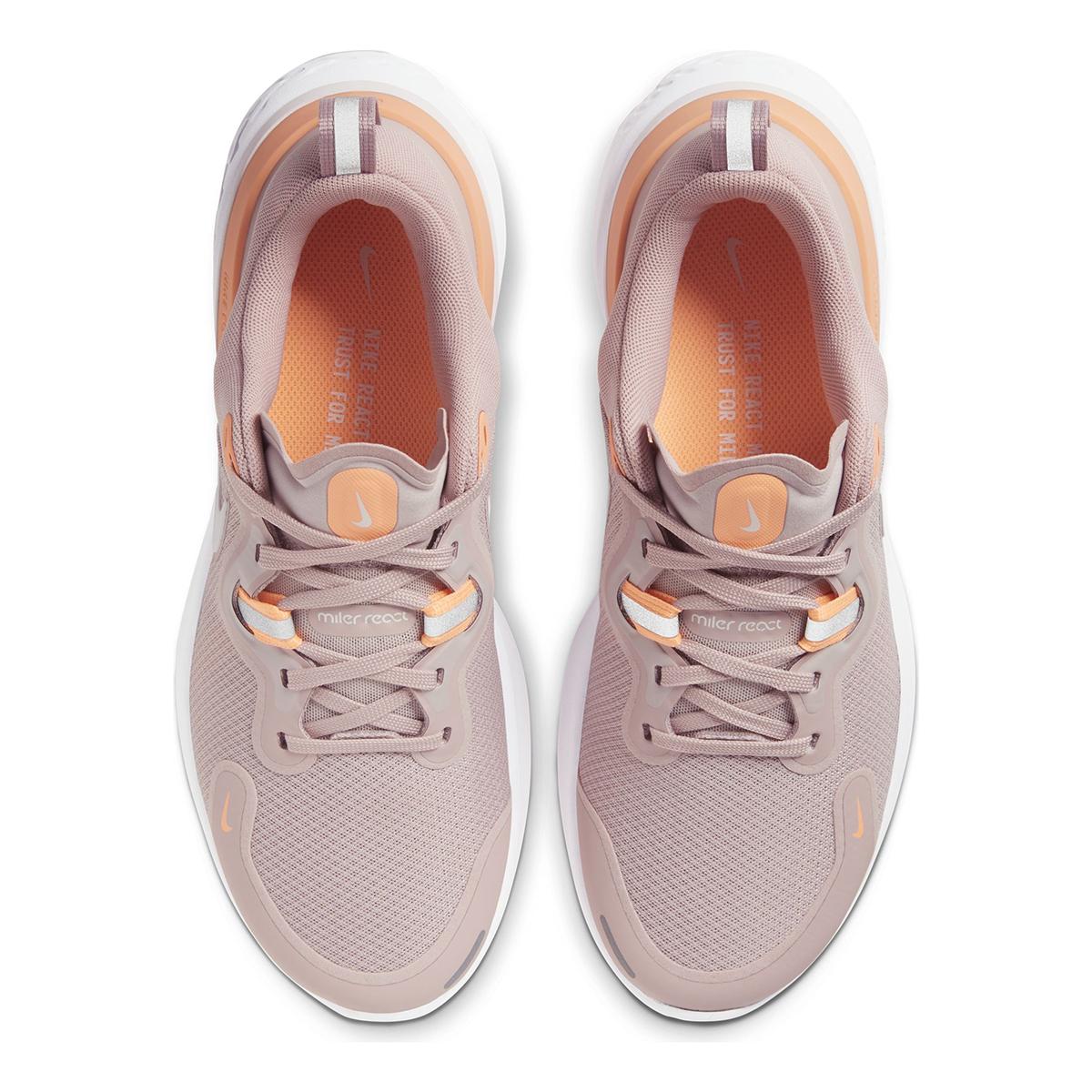 Women's Nike React Miler Running Shoe - Color: Champagne/Orange Pulse/Barely Rose/White (Regular Width) - Size: 5, Champagne/Orange Pulse/Barely Rose/White, large, image 5