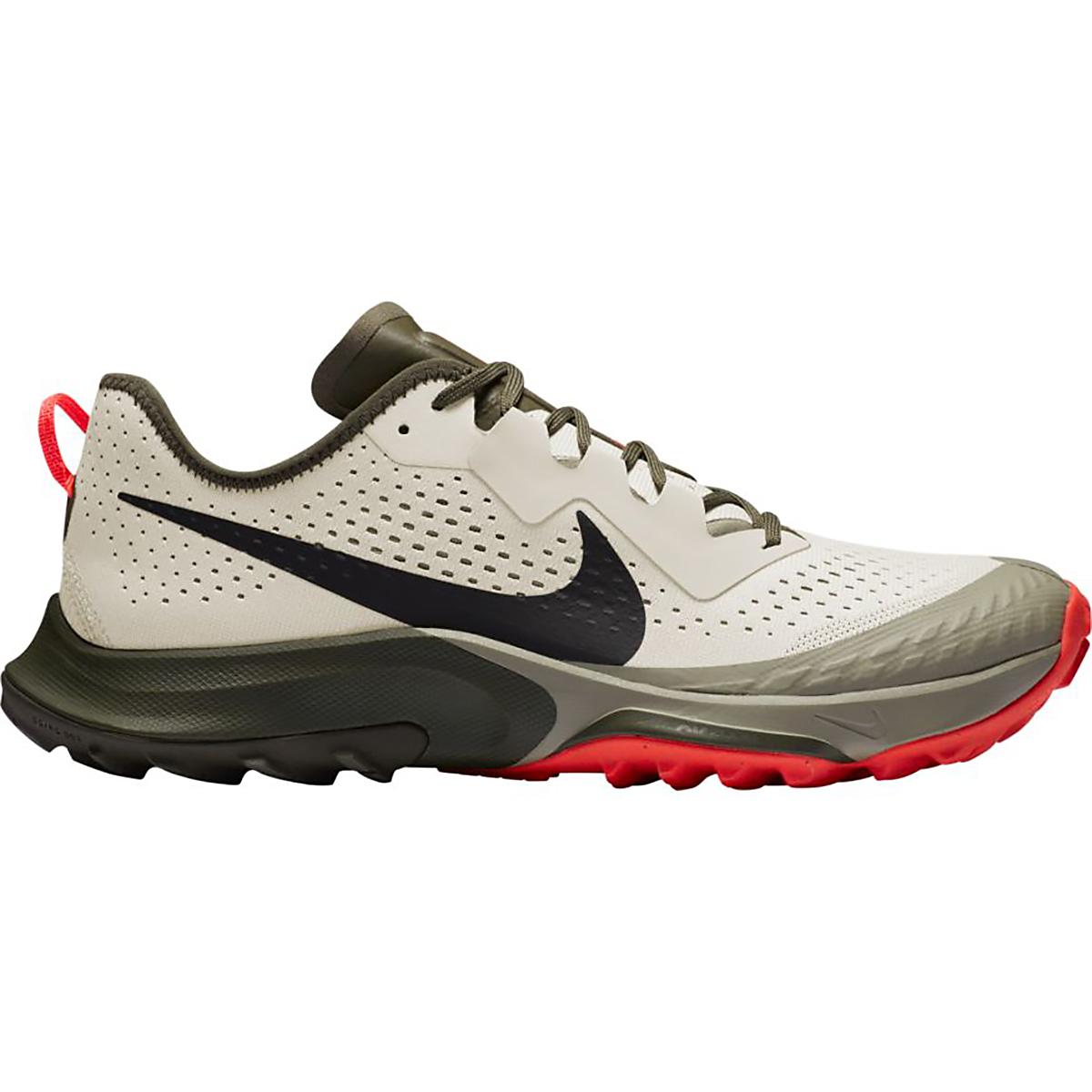 Men's Nike Air Zoom Terra Kiger 7 Trail Running Shoe - Color: Light Bone/Black-Cargo Khaki-Light Army - Size: 6 - Width: Regular, Light Bone/Black-Cargo Khaki-Light Army, large, image 1