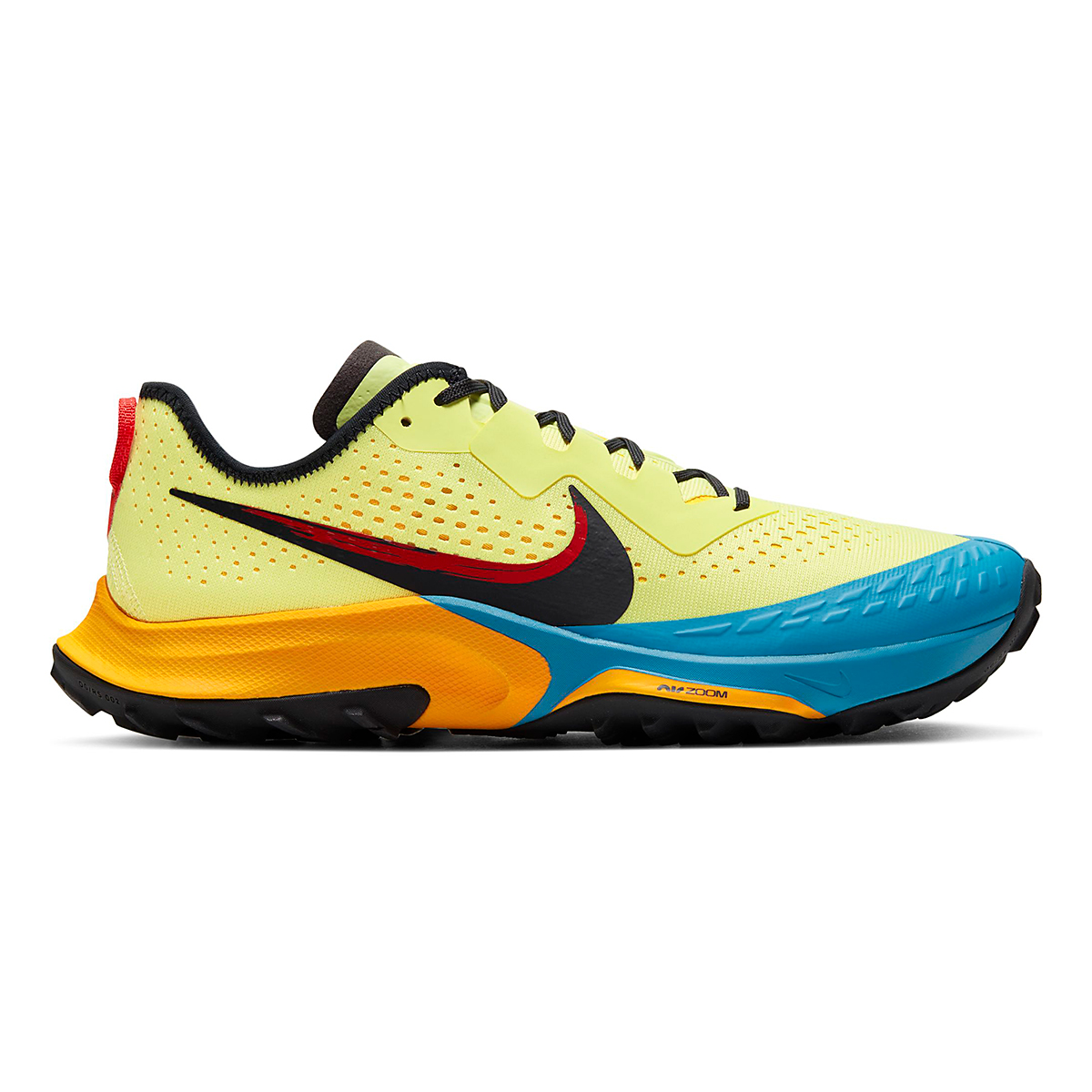Men's Nike Air Zoom Terra Kiger 7 Trail Running Shoe - Color: Limelight/Off Noir/Laser Blue - Size: 6.5 - Width: Regular, Limelight/Off Noir/Laser Blue, large, image 1