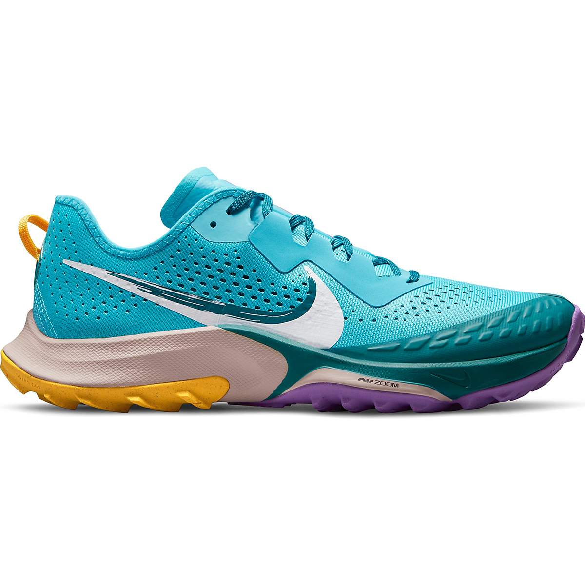 Men's Nike Air Zoom Terra Kiger 7 Trail Running Shoe - Color: Turquoise Blue/White/Mystic Teal - Size: 6 - Width: Regular, Turquoise Blue/White/Mystic Teal, large, image 1