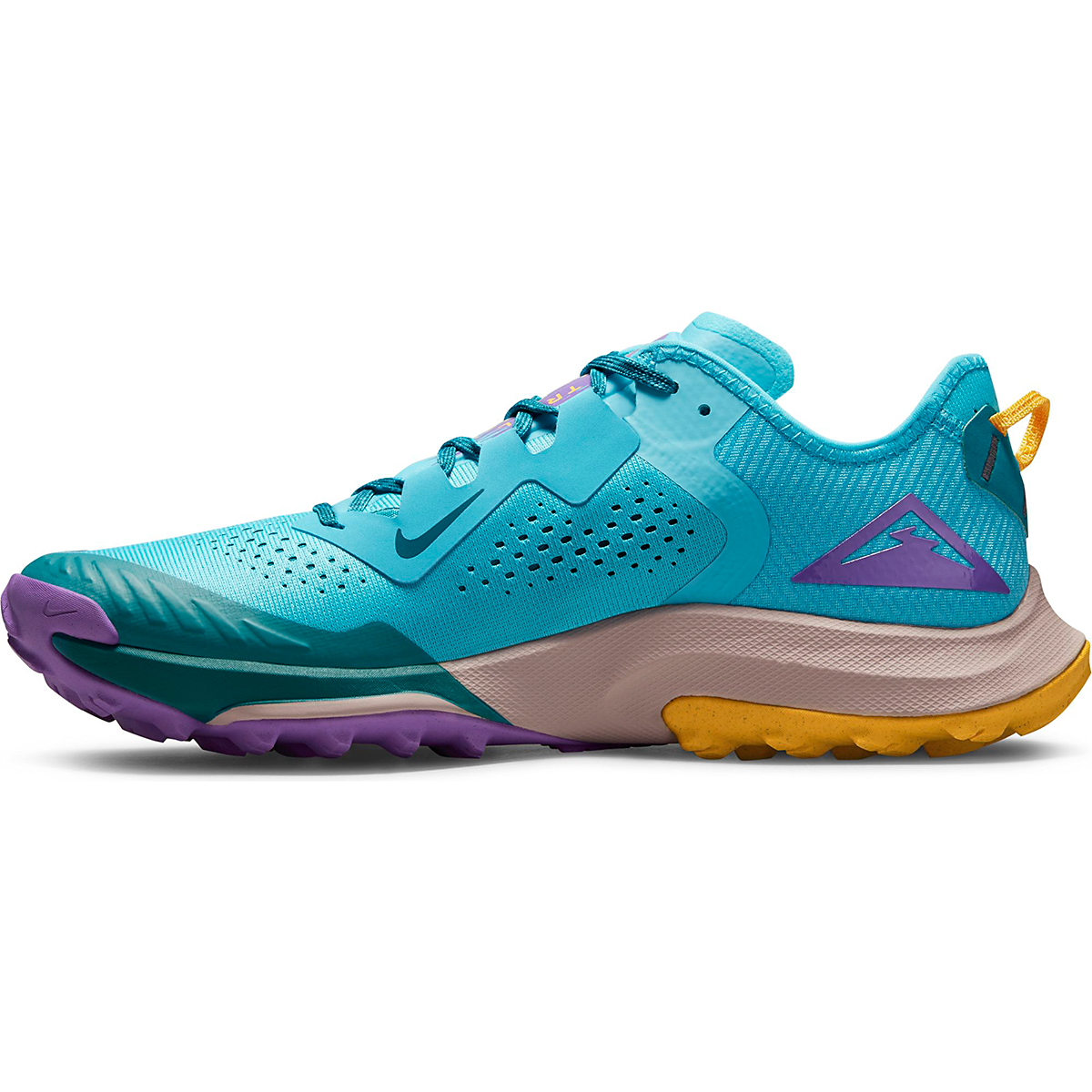 Men's Nike Air Zoom Terra Kiger 7 Trail Running Shoe - Color: Turquoise Blue/White/Mystic Teal - Size: 6 - Width: Regular, Turquoise Blue/White/Mystic Teal, large, image 2
