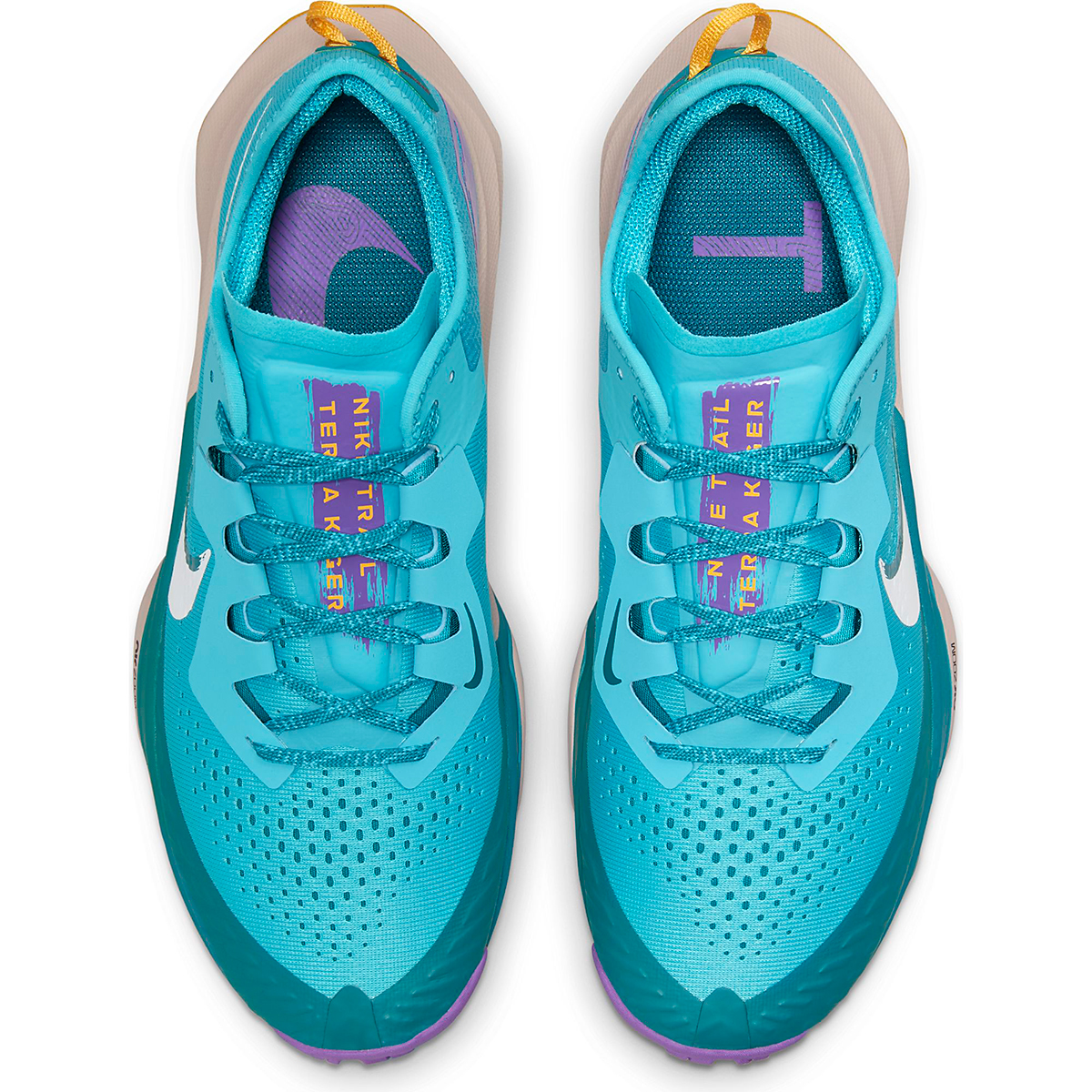 Men's Nike Air Zoom Terra Kiger 7 Trail Running Shoe - Color: Turquoise Blue/White/Mystic Teal - Size: 6 - Width: Regular, Turquoise Blue/White/Mystic Teal, large, image 3