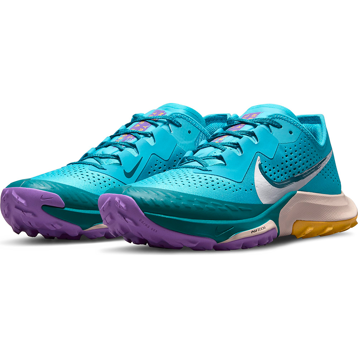 Men's Nike Air Zoom Terra Kiger 7 Trail Running Shoe - Color: Turquoise Blue/White/Mystic Teal - Size: 6 - Width: Regular, Turquoise Blue/White/Mystic Teal, large, image 5