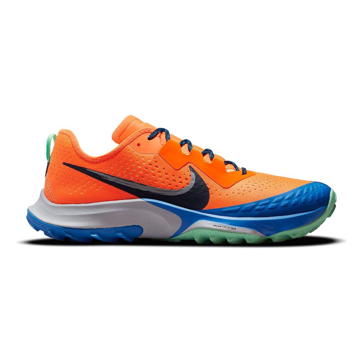 Men's Nike Air Zoom Terra Kiger 7 Trail Running Shoe - Color: Total Orange/Obsidian/Signal Blue - Size: 6 - Width: Regular, Total Orange/Obsidian/Signal Blue, large, image 1