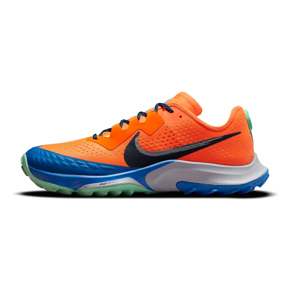 Men's Nike Air Zoom Terra Kiger 7 Trail Running Shoe - Color: Total Orange/Obsidian/Signal Blue - Size: 6 - Width: Regular, Total Orange/Obsidian/Signal Blue, large, image 2