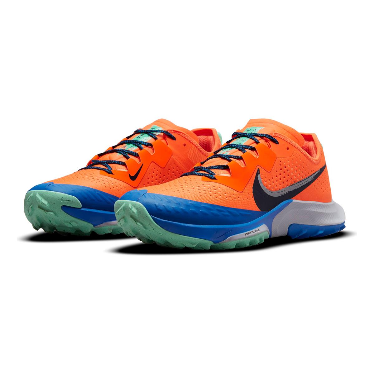 Men's Nike Air Zoom Terra Kiger 7 Trail Running Shoe - Color: Total Orange/Obsidian/Signal Blue - Size: 6 - Width: Regular, Total Orange/Obsidian/Signal Blue, large, image 3
